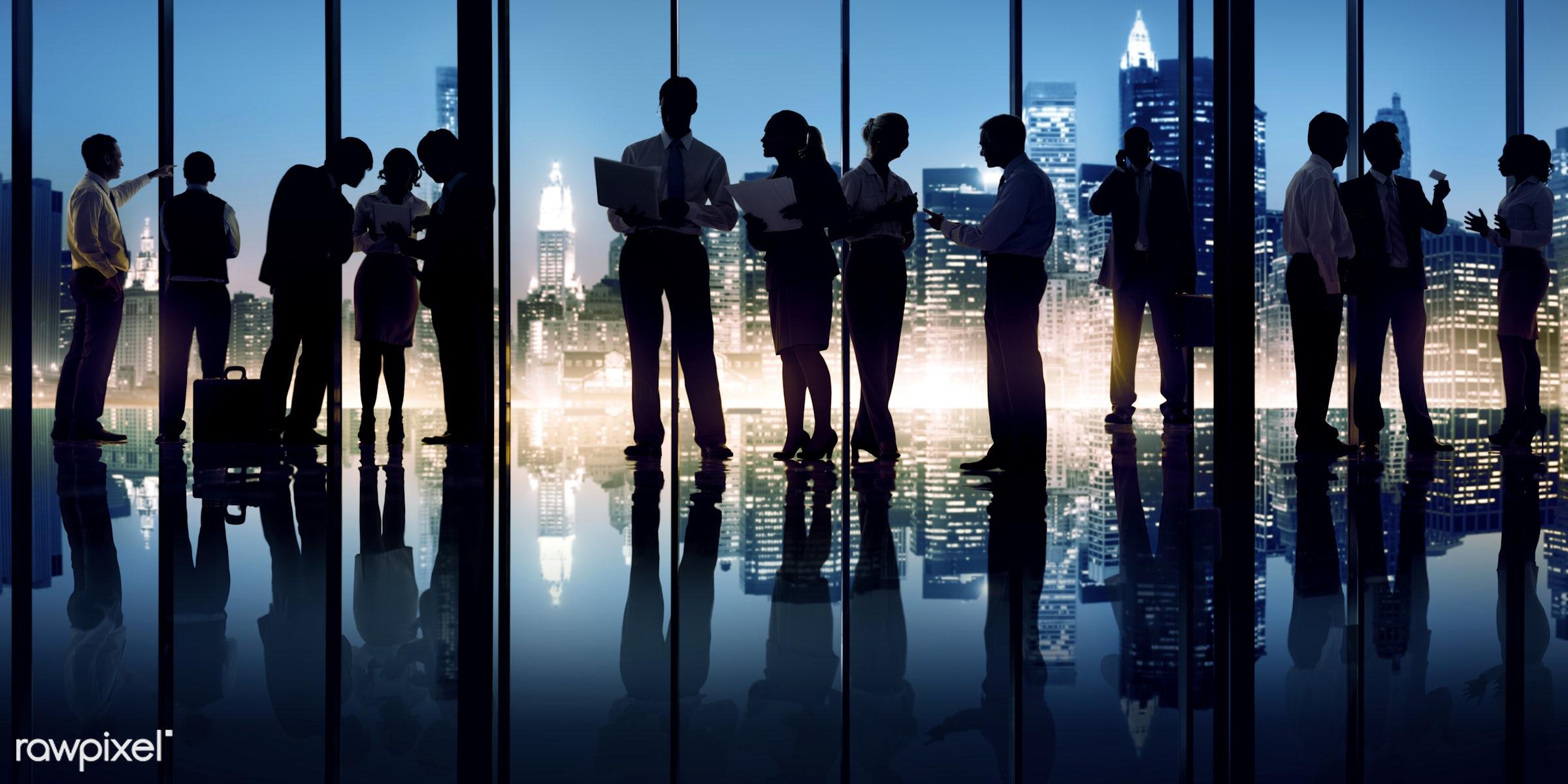 back lit, boardroom, brainstorming, building, business, business people, businessmen, businesswomen, city, cityscape,...