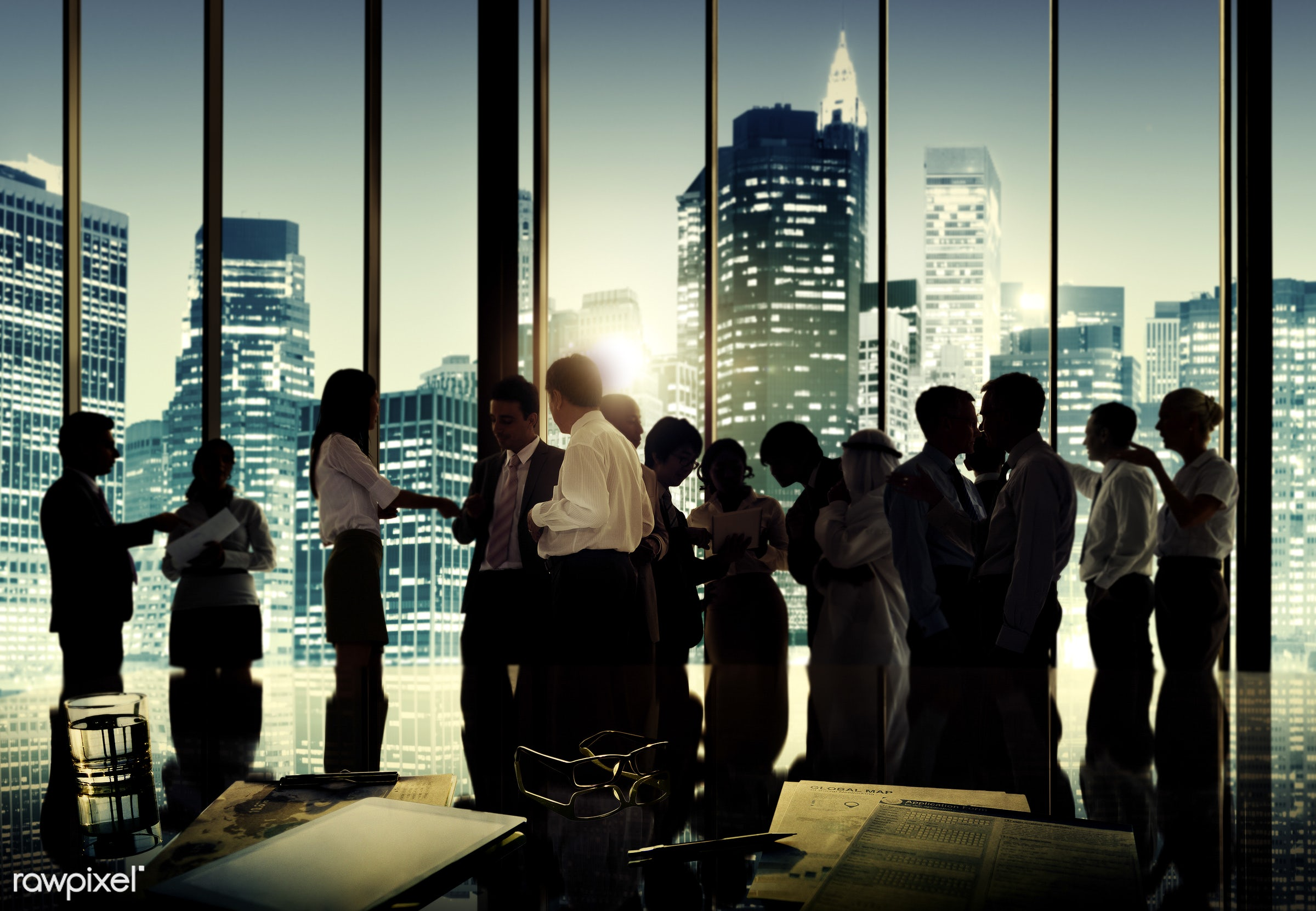 african descent, asian ethnicity, brainstorming, building, business, business people, businessmen, businesswomen, busy, city...