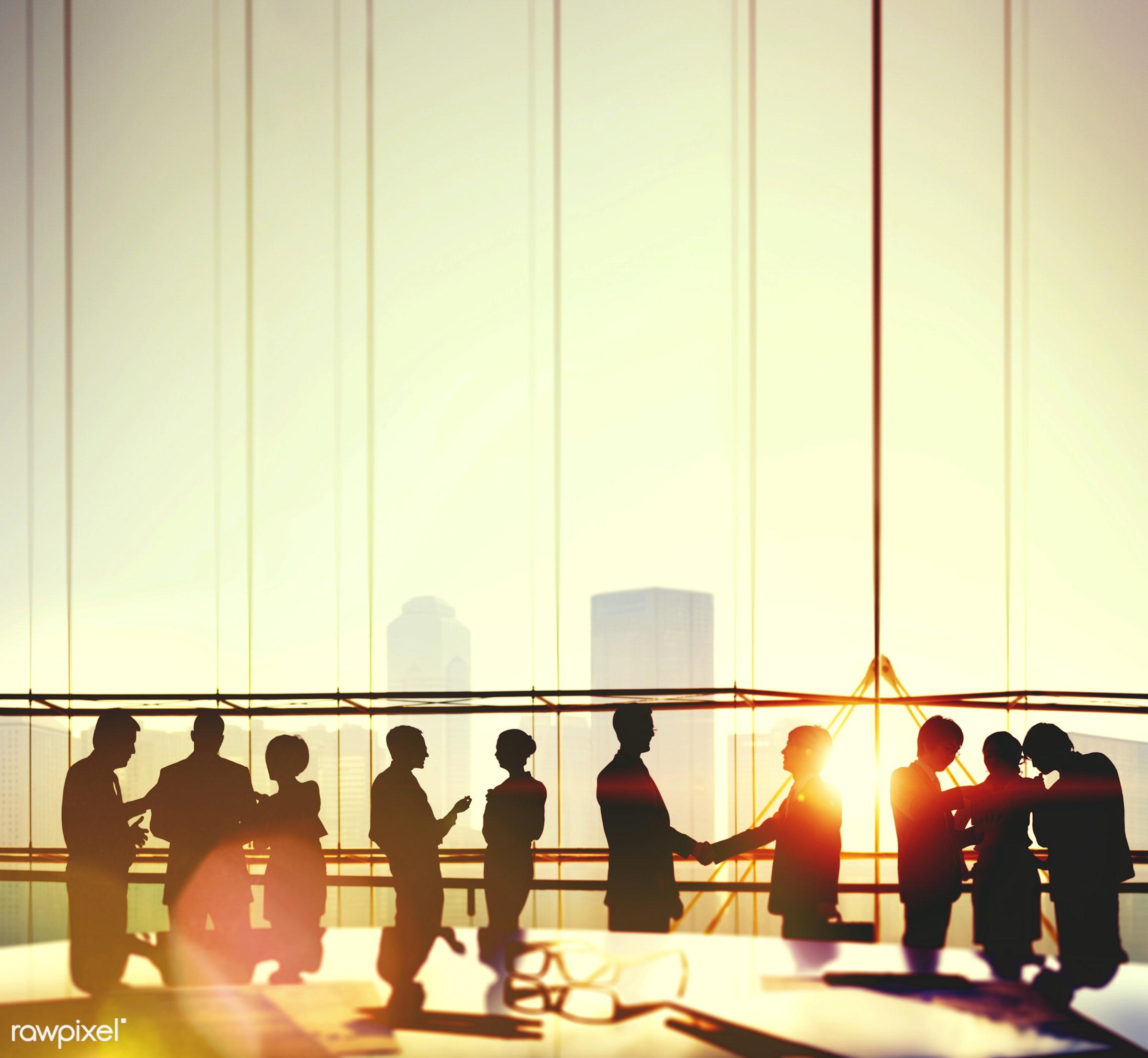 back lit, building, business, business people, businessmen, businesswomen, city, city life, cityscape, collaboration,...