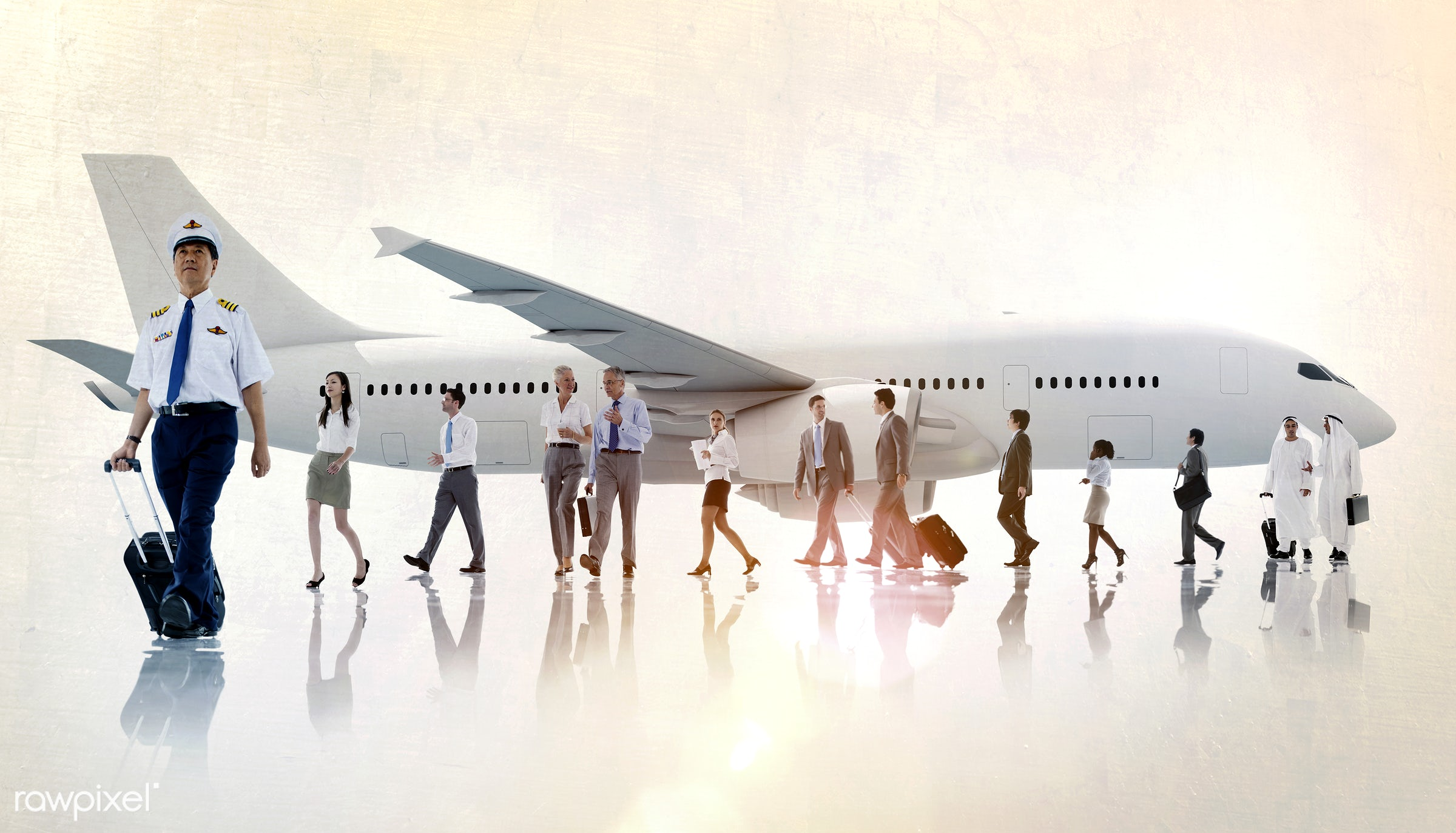 african descent, air stewardess, airplane, airport, asian, asian ethnicity, business people, business travel, businessmen,...