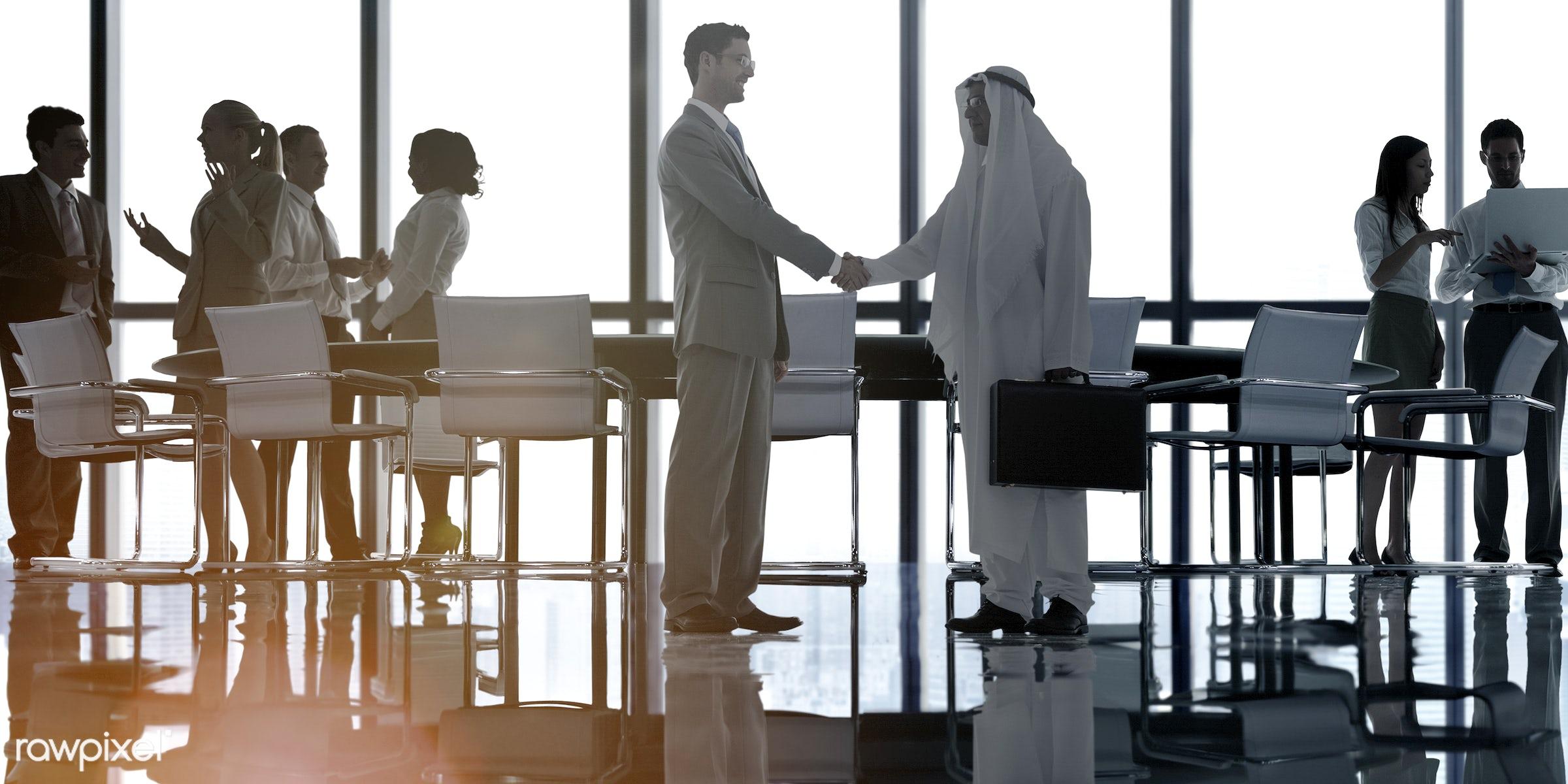 agreement, back lit, boardroom, brainstorming, building, business, business people, businessmen, businesswomen, city,...