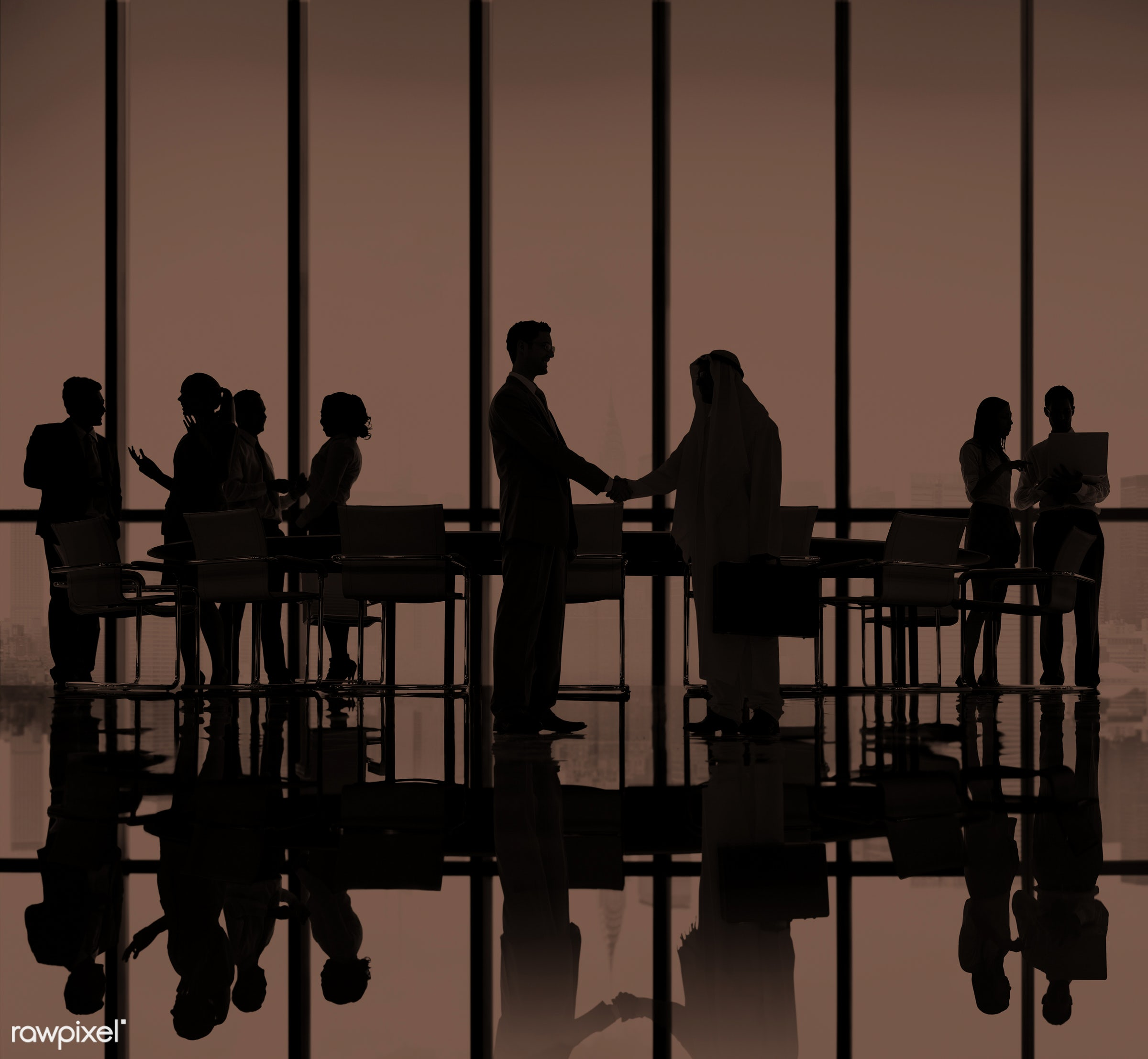 agreement, back lit, boardroom, brainstorming, building, business, business people, businessmen, businesswomen, city,...