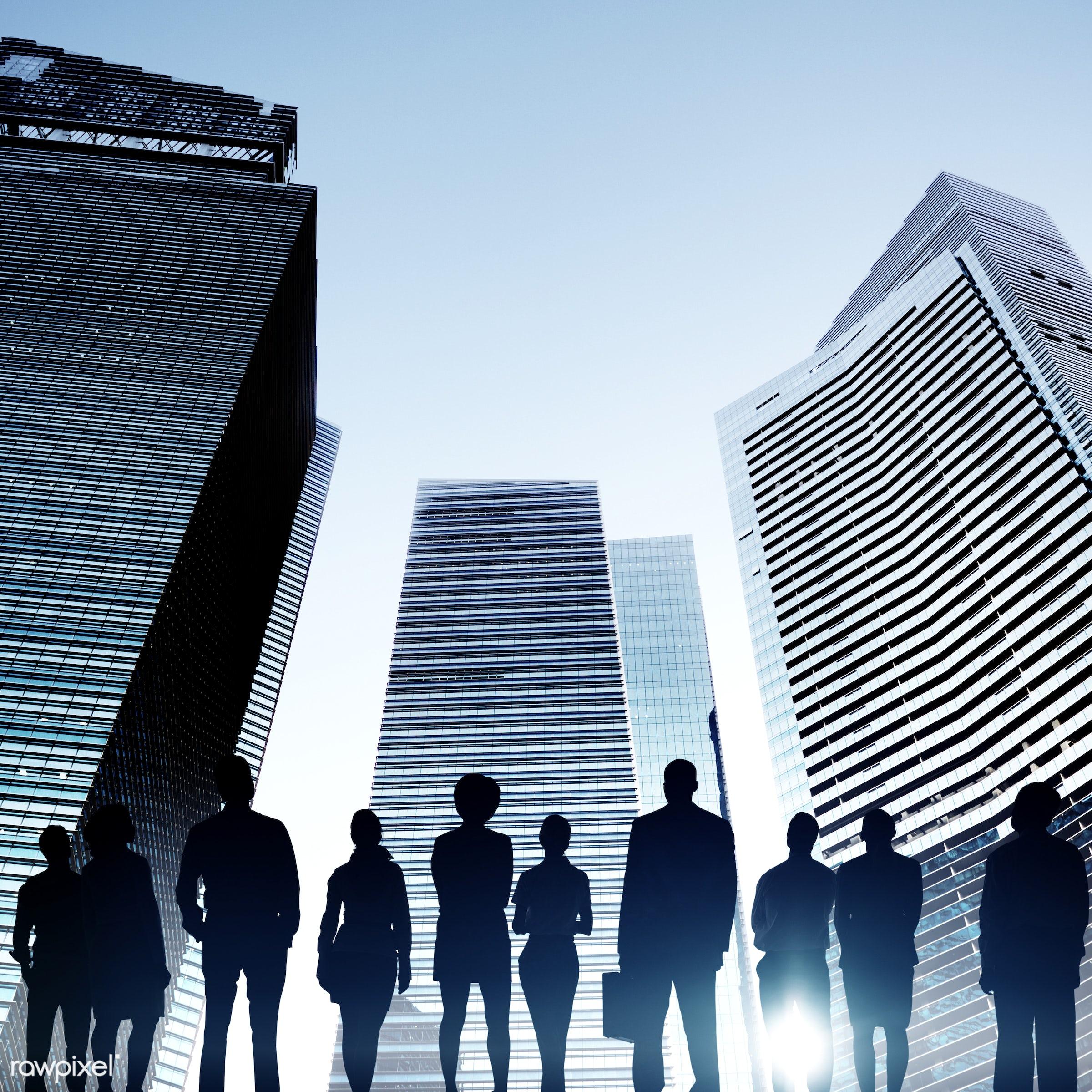 achievement, aim, architecture, back lit, building, business, business people, businessmen, businesswomen, city, cityscape,...