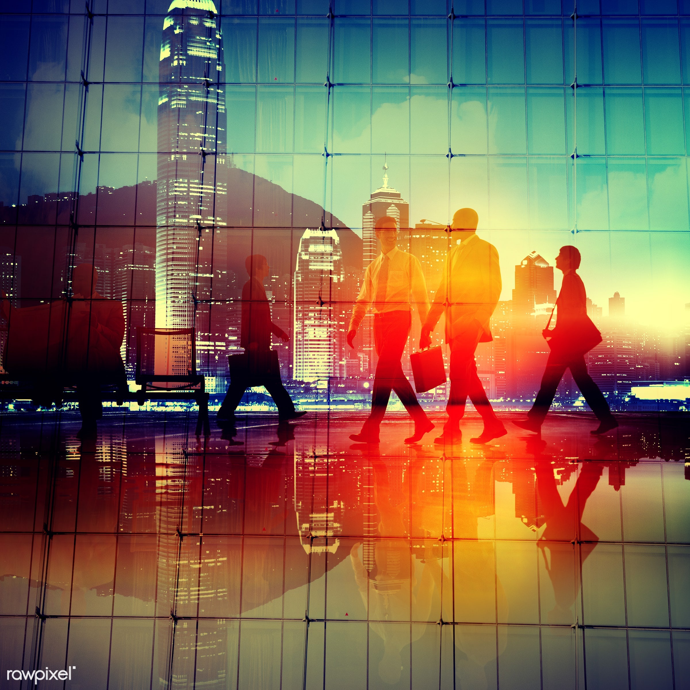 back lit, blurred motion, brainstorming, buildings, business, business people, businessmen, businesswomen, busy, city, city...