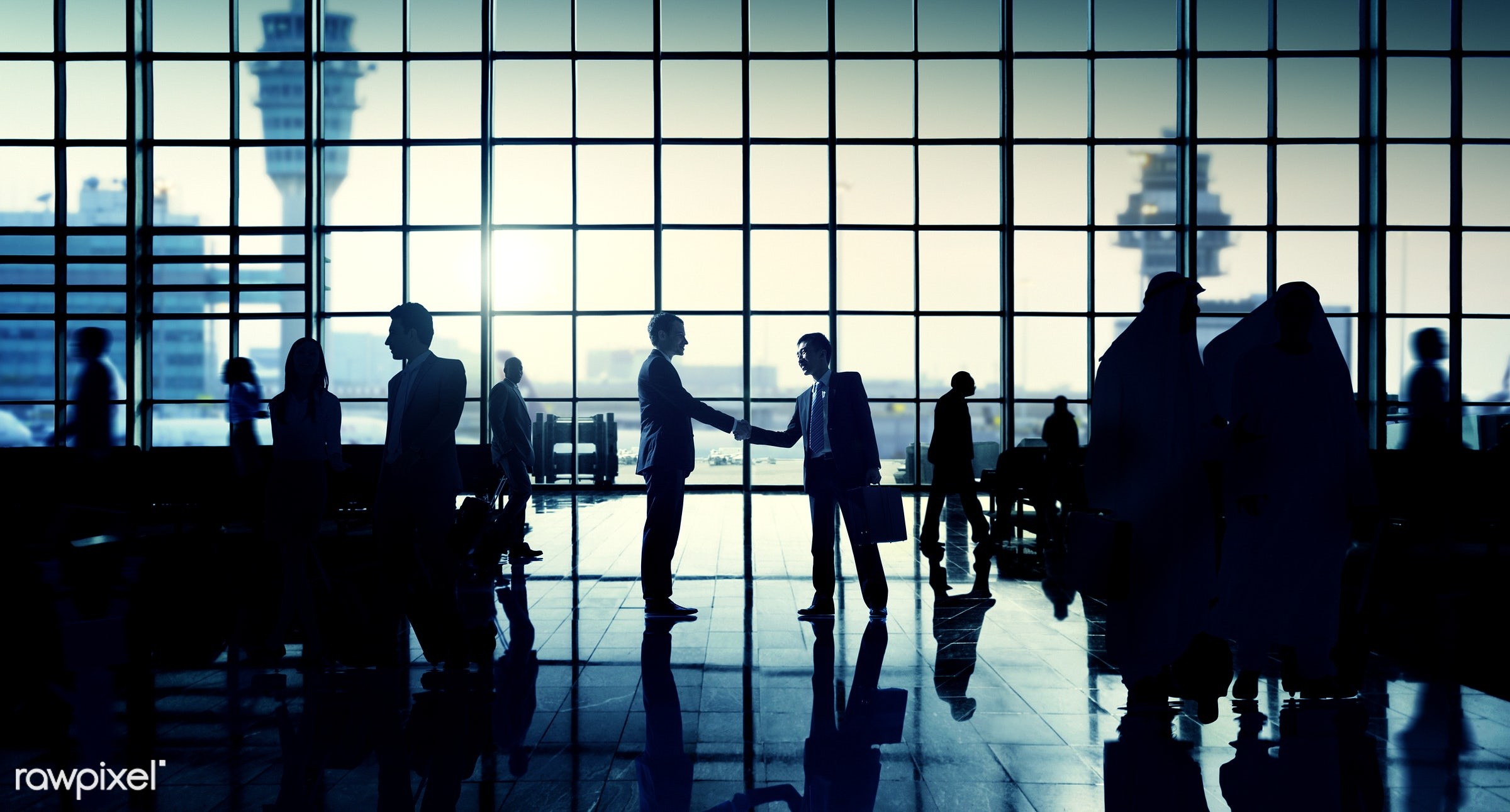 agreement, aircraft, airdrome control tower, airplane, airport, business people, business travel, businessmen, businesswomen...