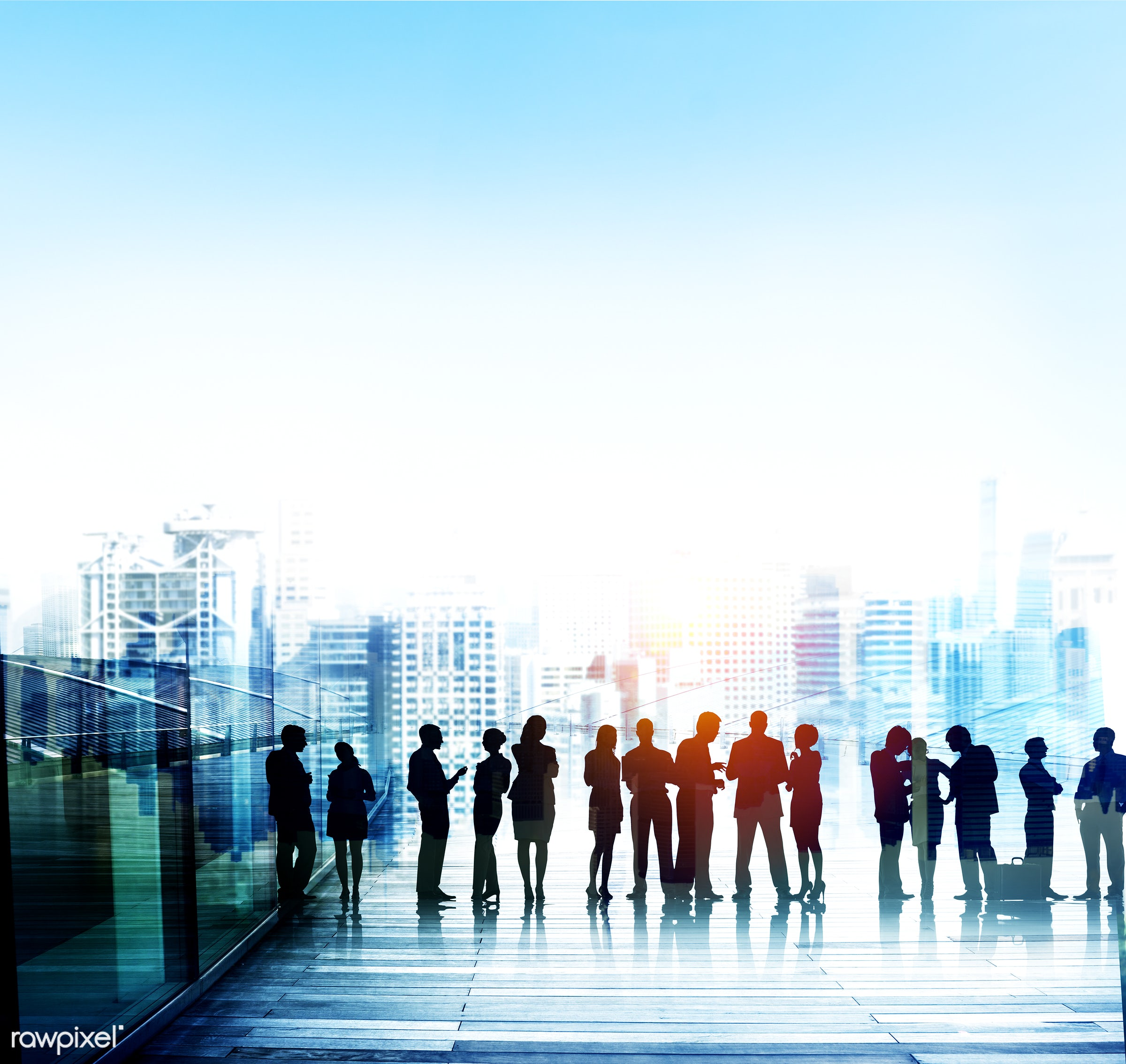 backlit, blue, brainstorming, building, business, business people, businessmen, businesswomen, cityscape, colleagues,...