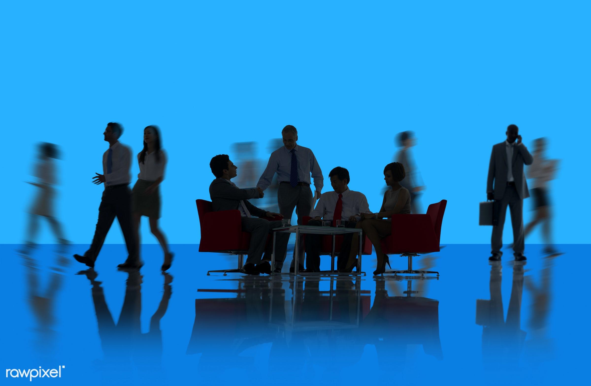 agreement, backdrop, background, backlit, blue, brainstorming, business, business people, businessmen, businesswomen, busy,...