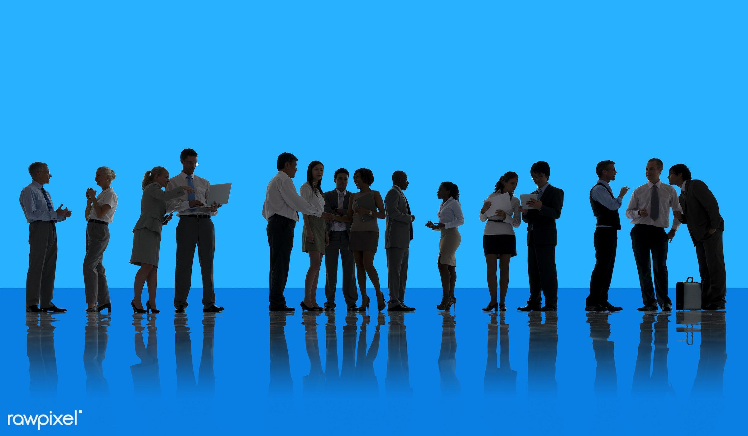 back lit, backdrop, background, blue, business, business people, businessmen, businesswomen, communication, corporate,...