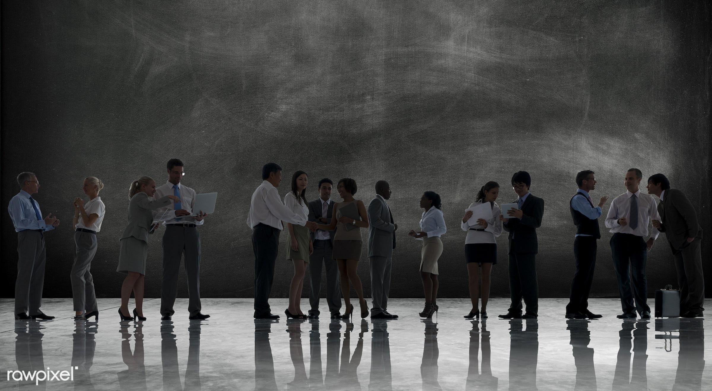 back lit, blackboard, business, business people, businessmen, businesswomen, cement, chalkboard, communication, concrete,...
