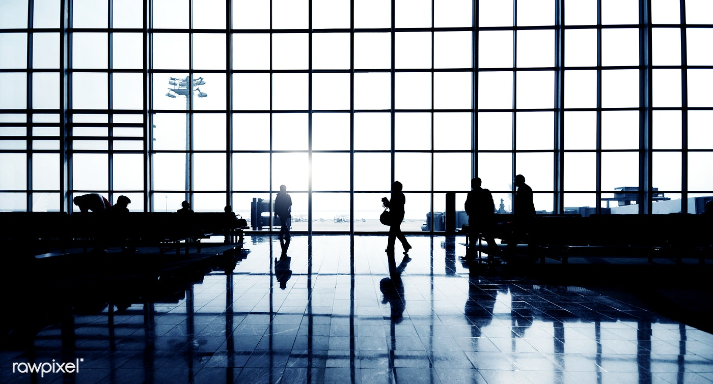 airport, travel, waiting, window, benches, chairs, flight, glass, passengers, pattern, plane, silhouette, terminal,...