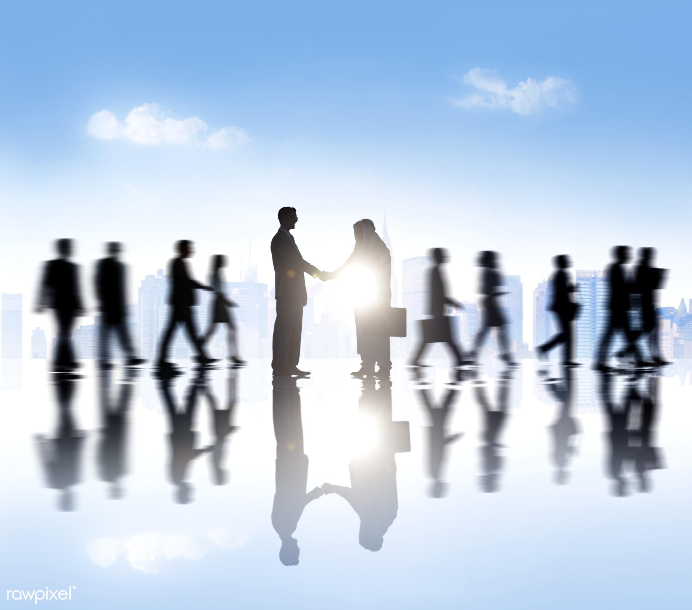caucasian, achievement, adult, advice, agreement, blue sky, blurred motion, business, business partner, business people,...
