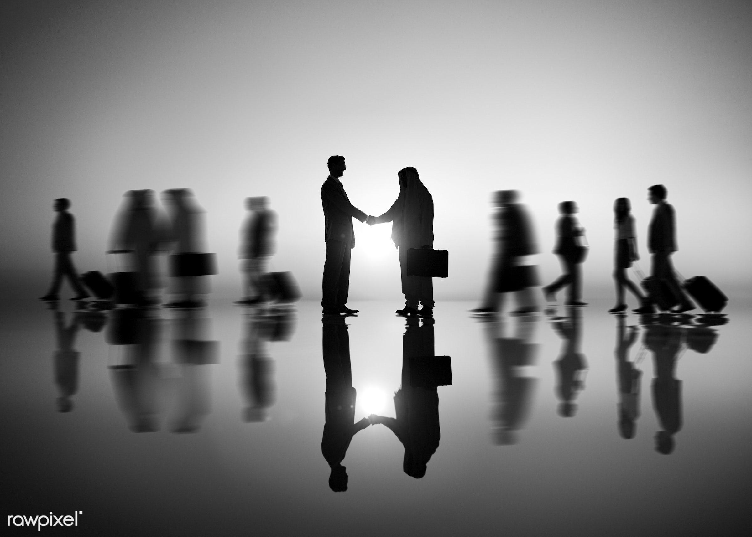 caucasian, adult, agreement, blurred motion, business, business people, business person, business travel, businessman,...