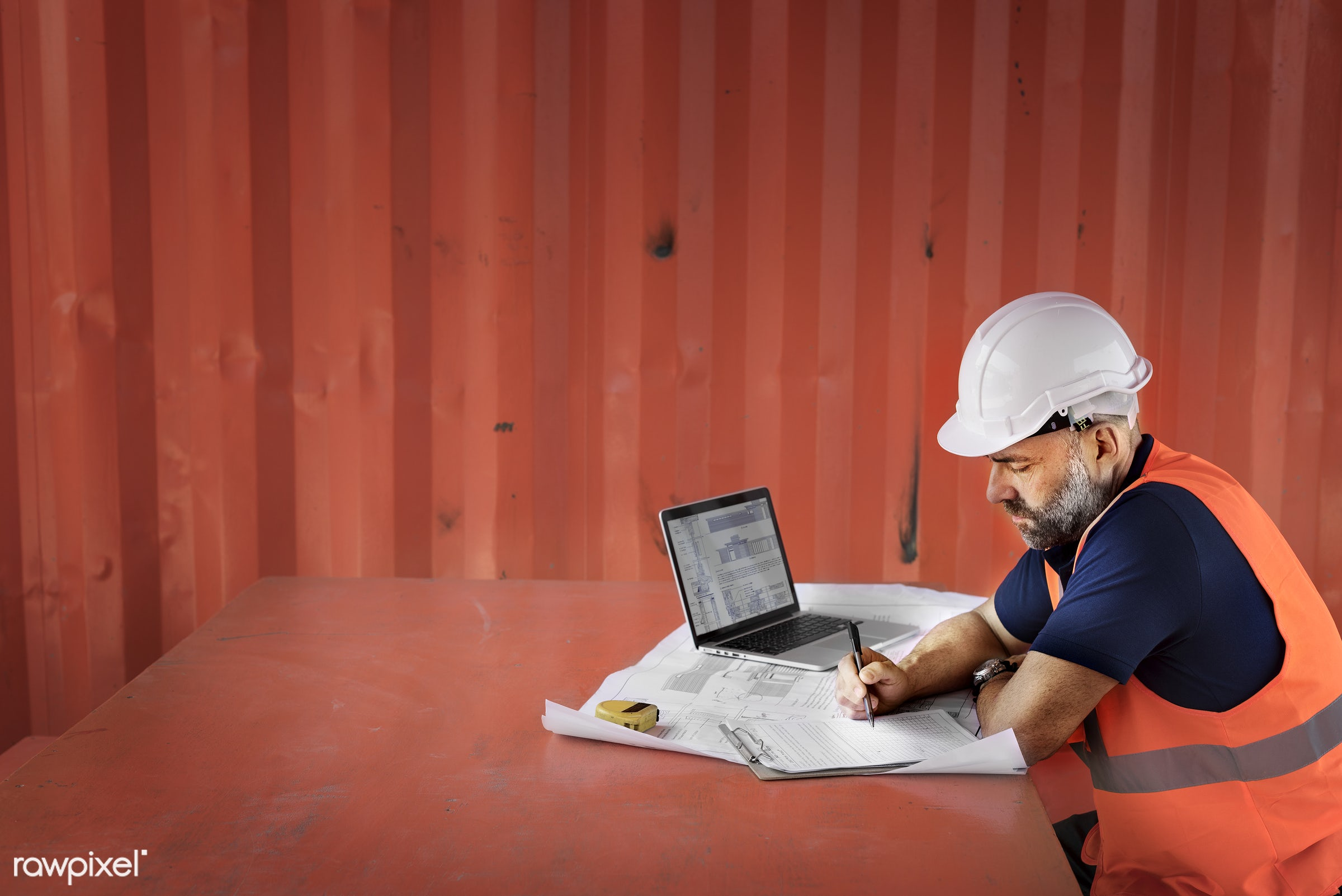 person, architecture, helmet, foreman, working, alone, man, occupation, guy, engineer, candid, professional, architect,...
