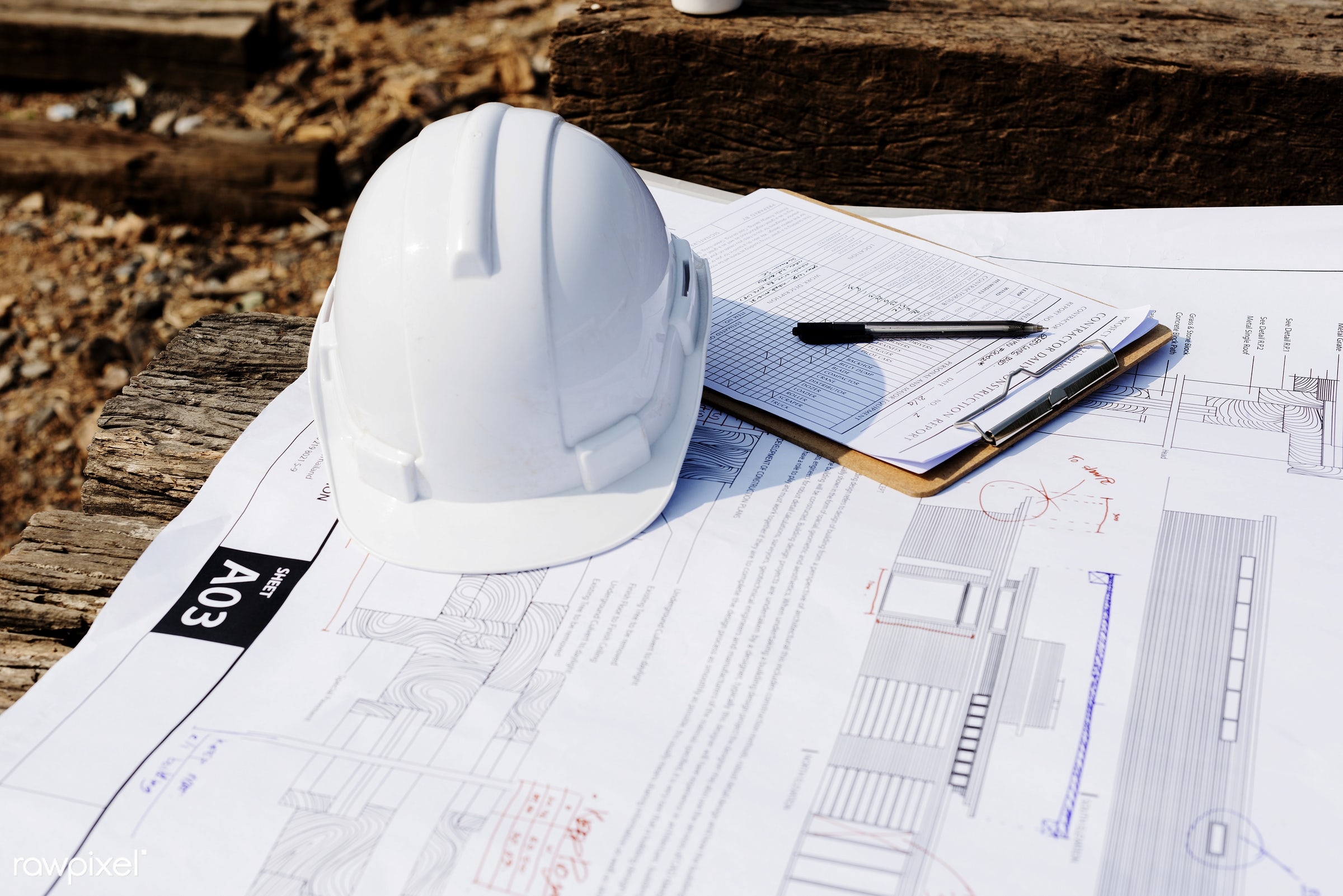 Construction site - engineer, construction, construction site, engineering, paper, aerial, architecture, blueprint, building...