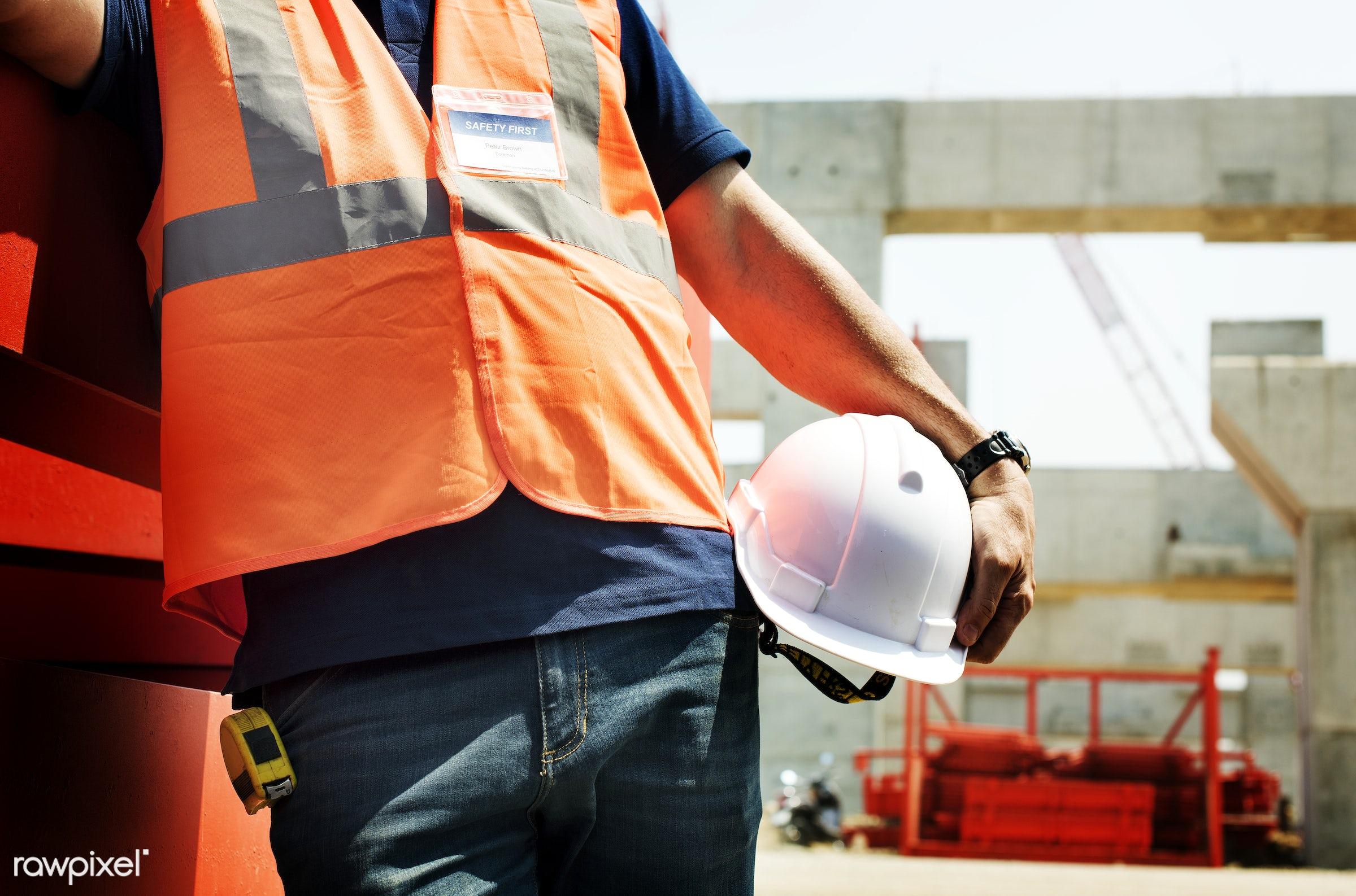 building, built, career, closeup, construction, construction site, control, engineer, engineering, hardhat, helmet, holding...
