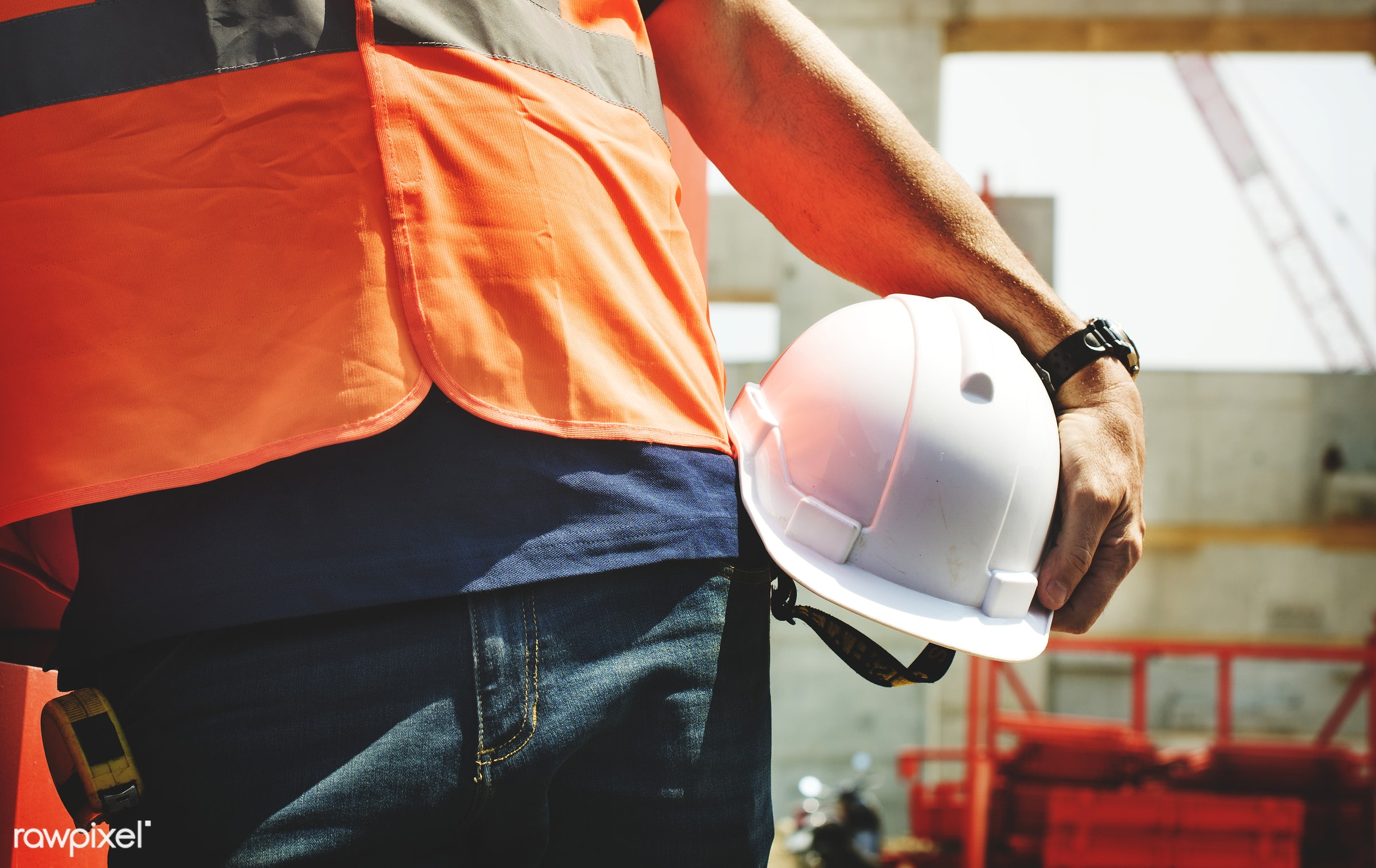 Site engineer on a construction site - worker, safety, construction, engineer, control, engineering, hardhat, building,...