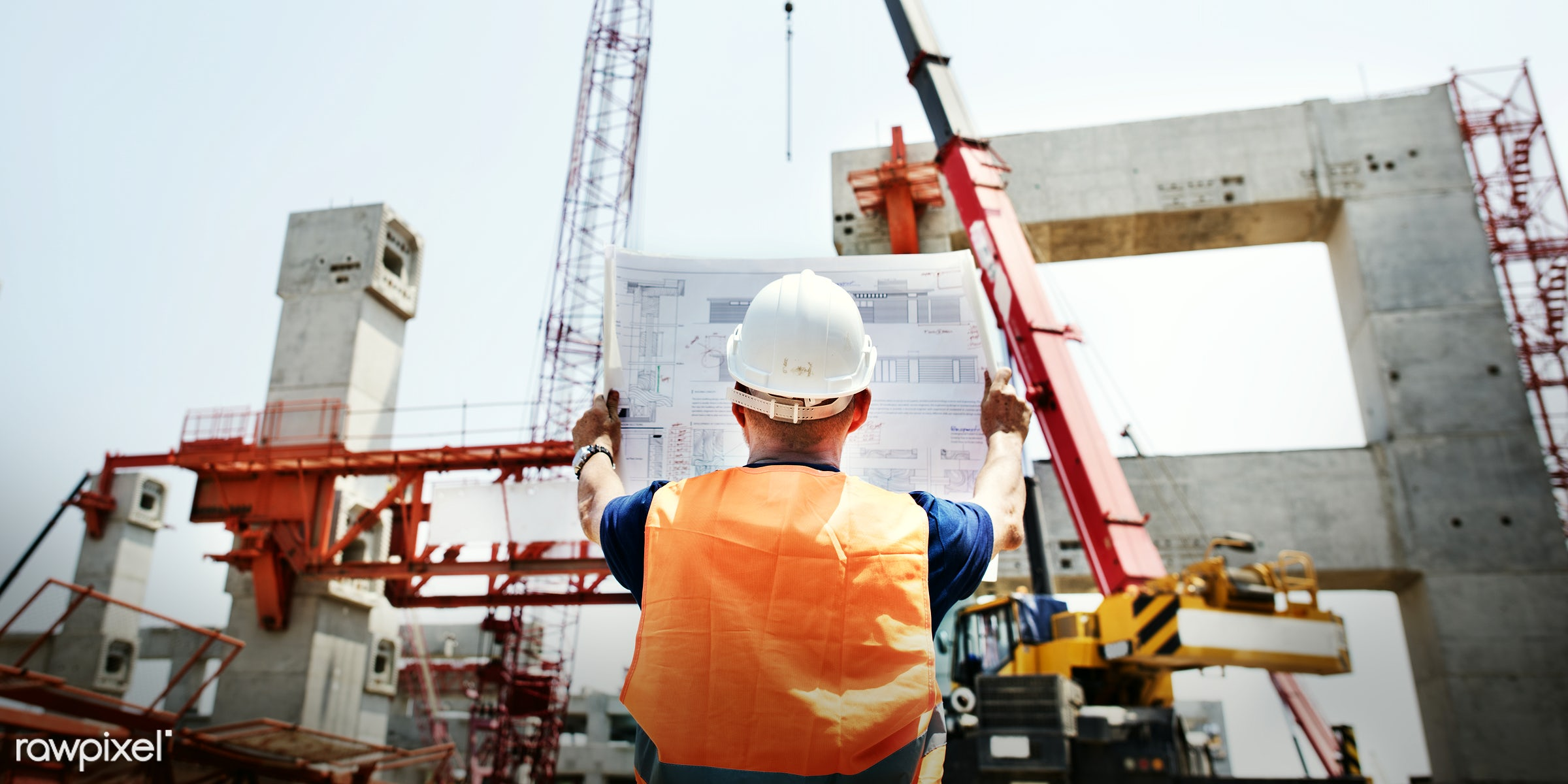 engineer, worker, architecture, blueprint, building, built, career, check, construction, construction site, control,...