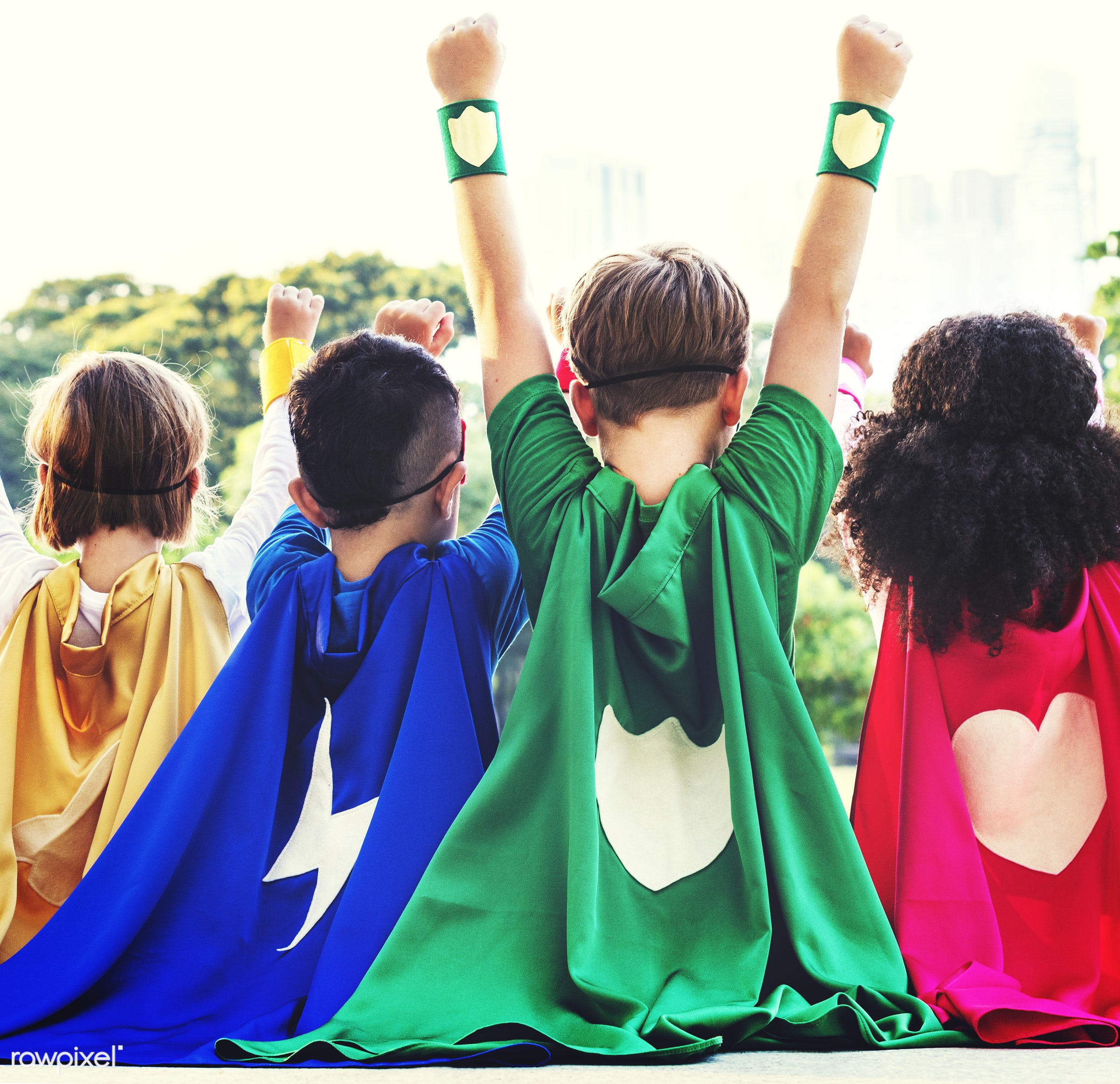 superhero, adorable, african descent, arms raised, asian ethnicity, aspiration, boys, cape, cheerful, child, childhood,...