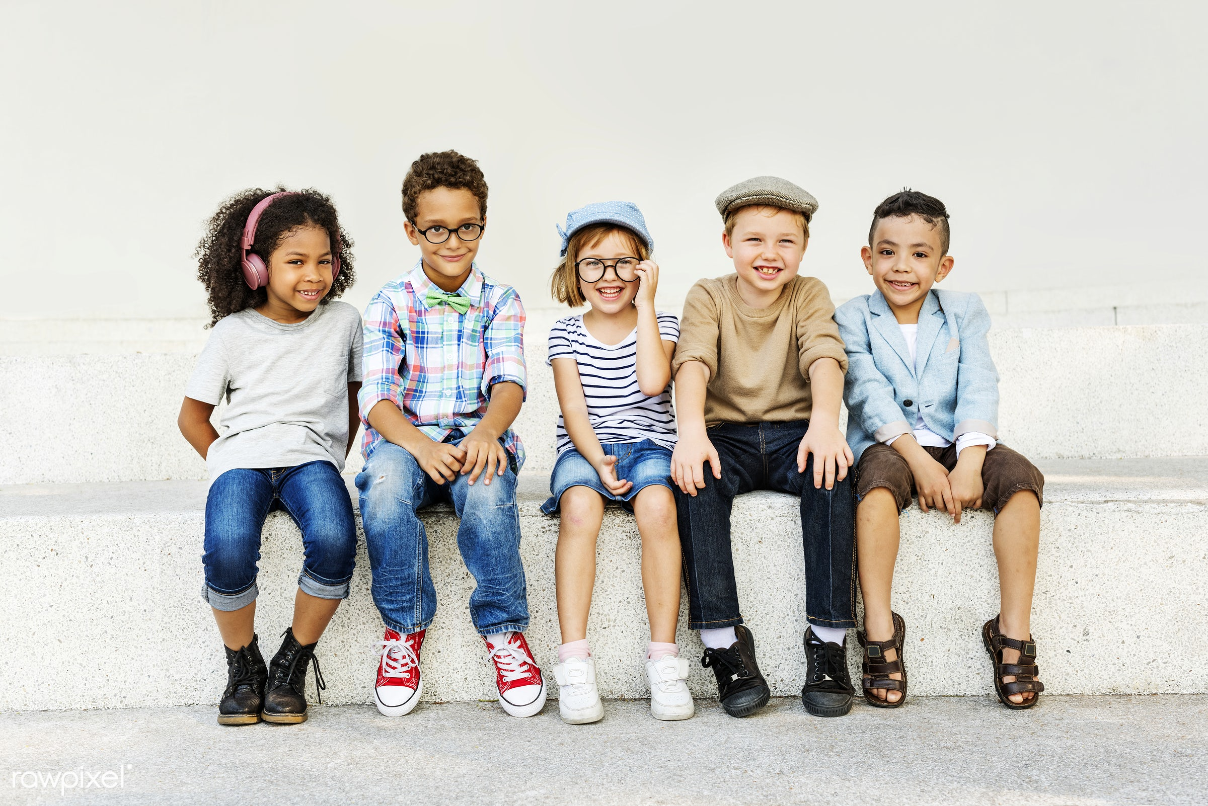 summer, activities, adorable, african descent, asian ethnicity, bonding, boys, casual, cheerful, child, childhood, children...