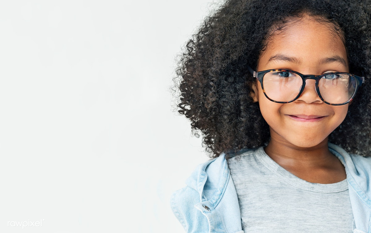 Curly Haired Cute Girl With Huge Glasses Royalty Free Stock Psd