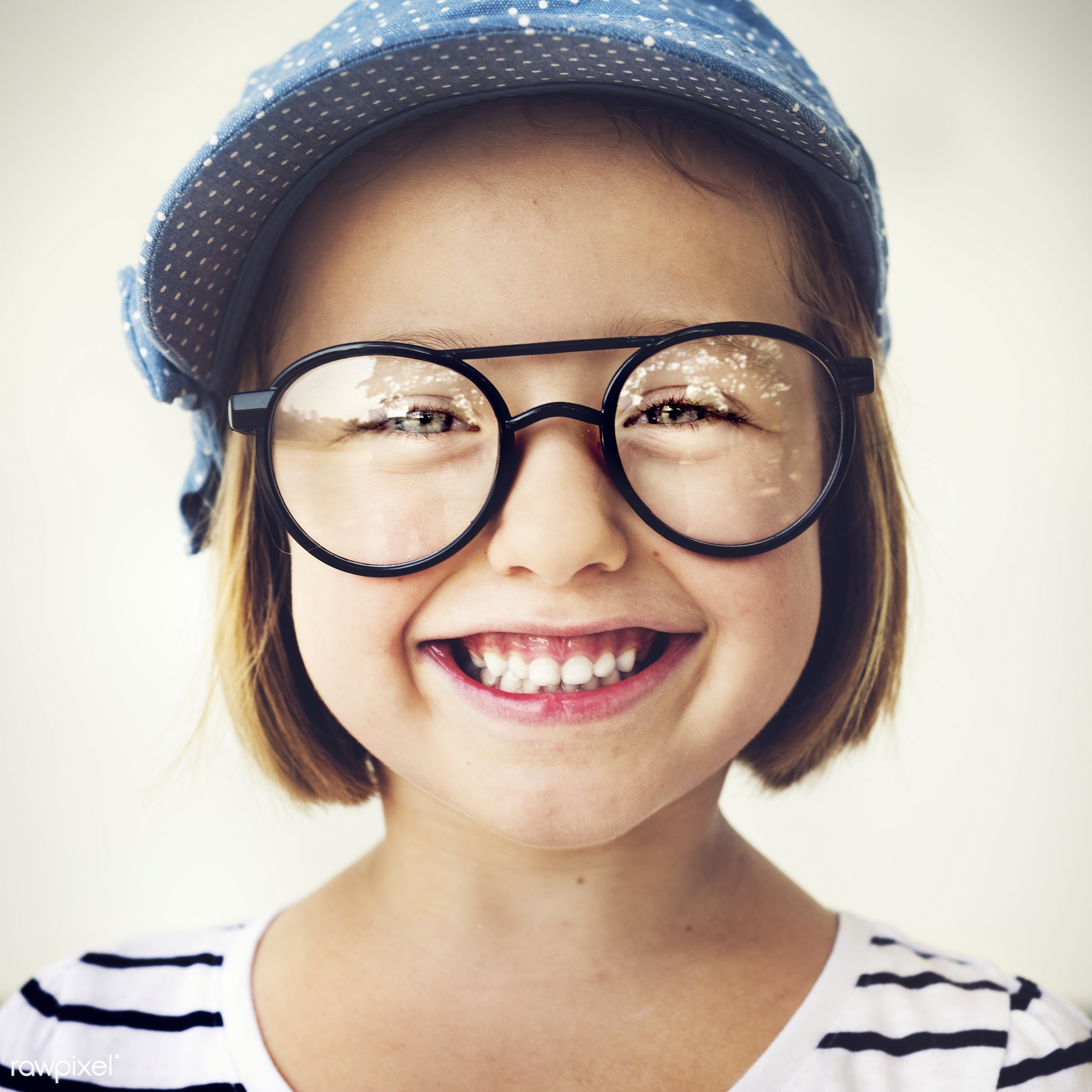 Cute little girl with glasses - happy, child, friendship, fun, smiling, cute, happiness, activities, adorable, beautiful,...