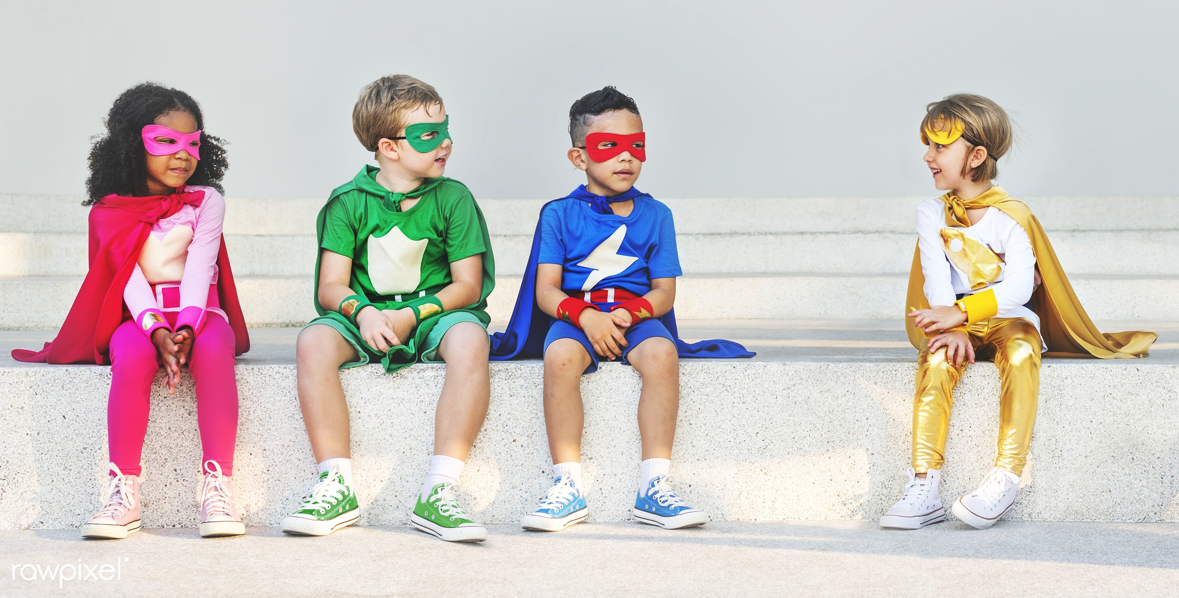 cape, superhero, adorable, african descent, asian ethnicity, aspiration, boys, cheerful, child, childhood, children,...