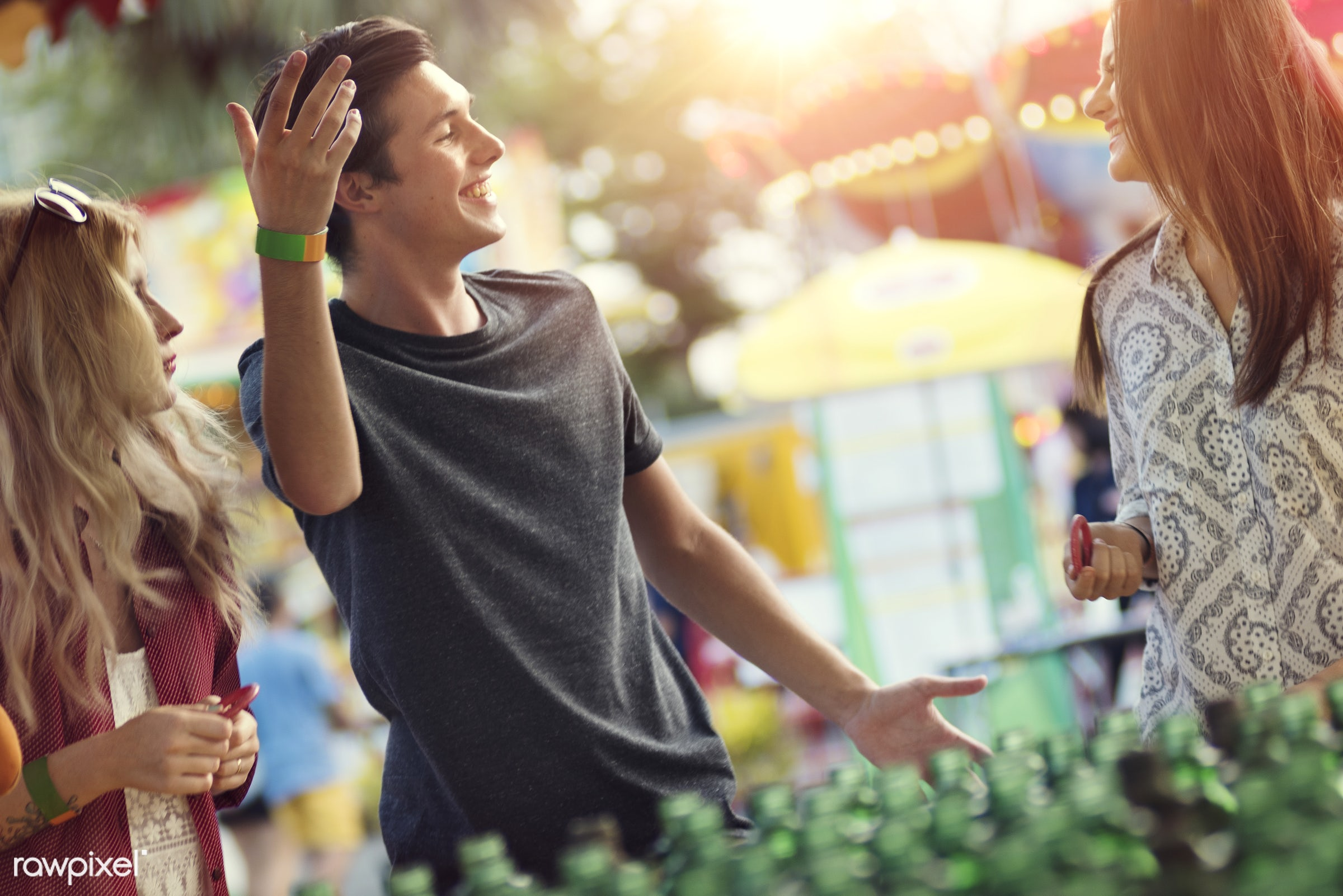 youth, fun, feeling, together, amusement park, enjoyment, expression, friends, friendship, fun park, group, happiness, man,...