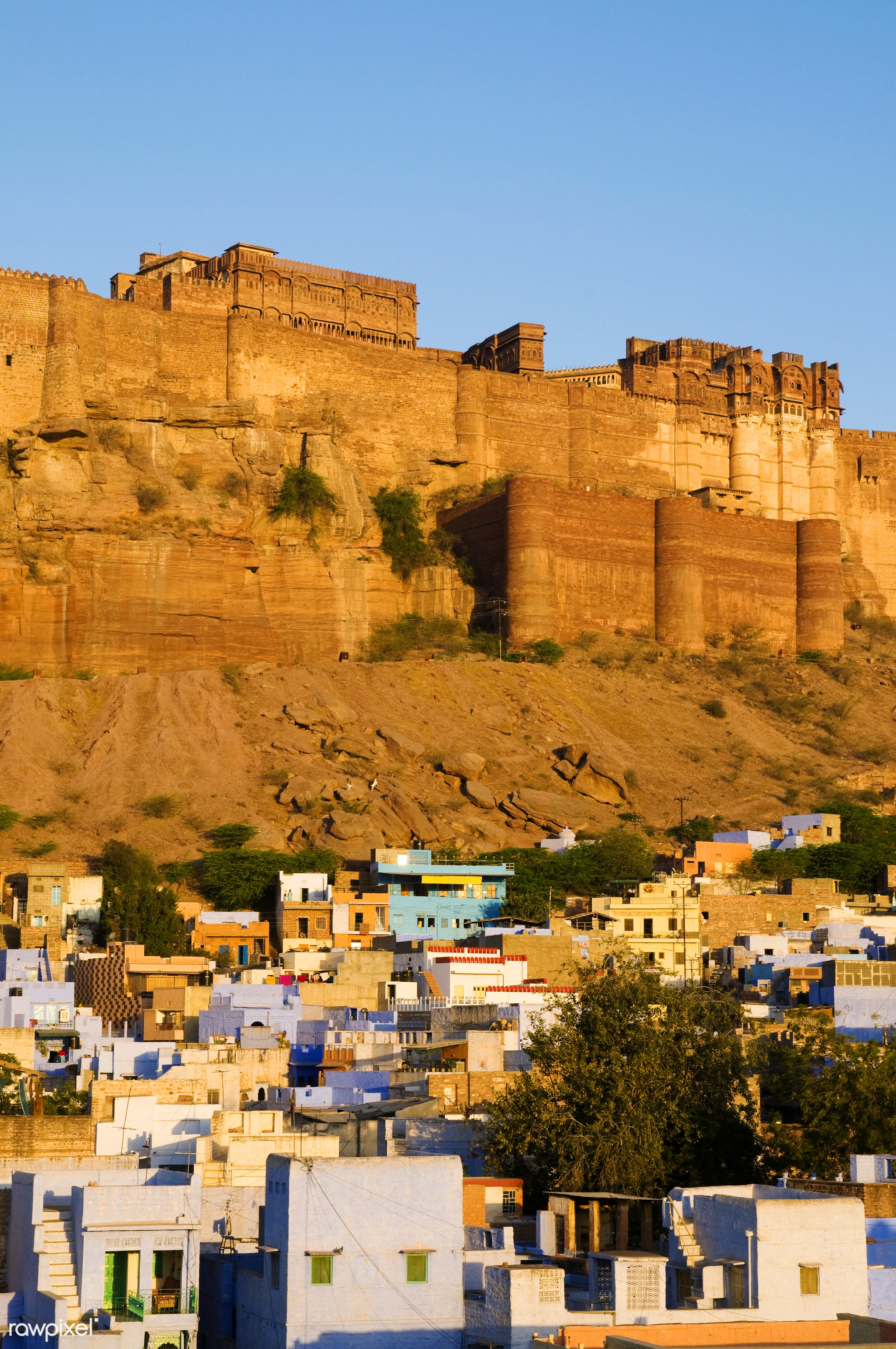 Mehrangarh Fort in Jodphur, India - ancient, architecture, architecture and buildings, asian and indian ethnicities, awe,...