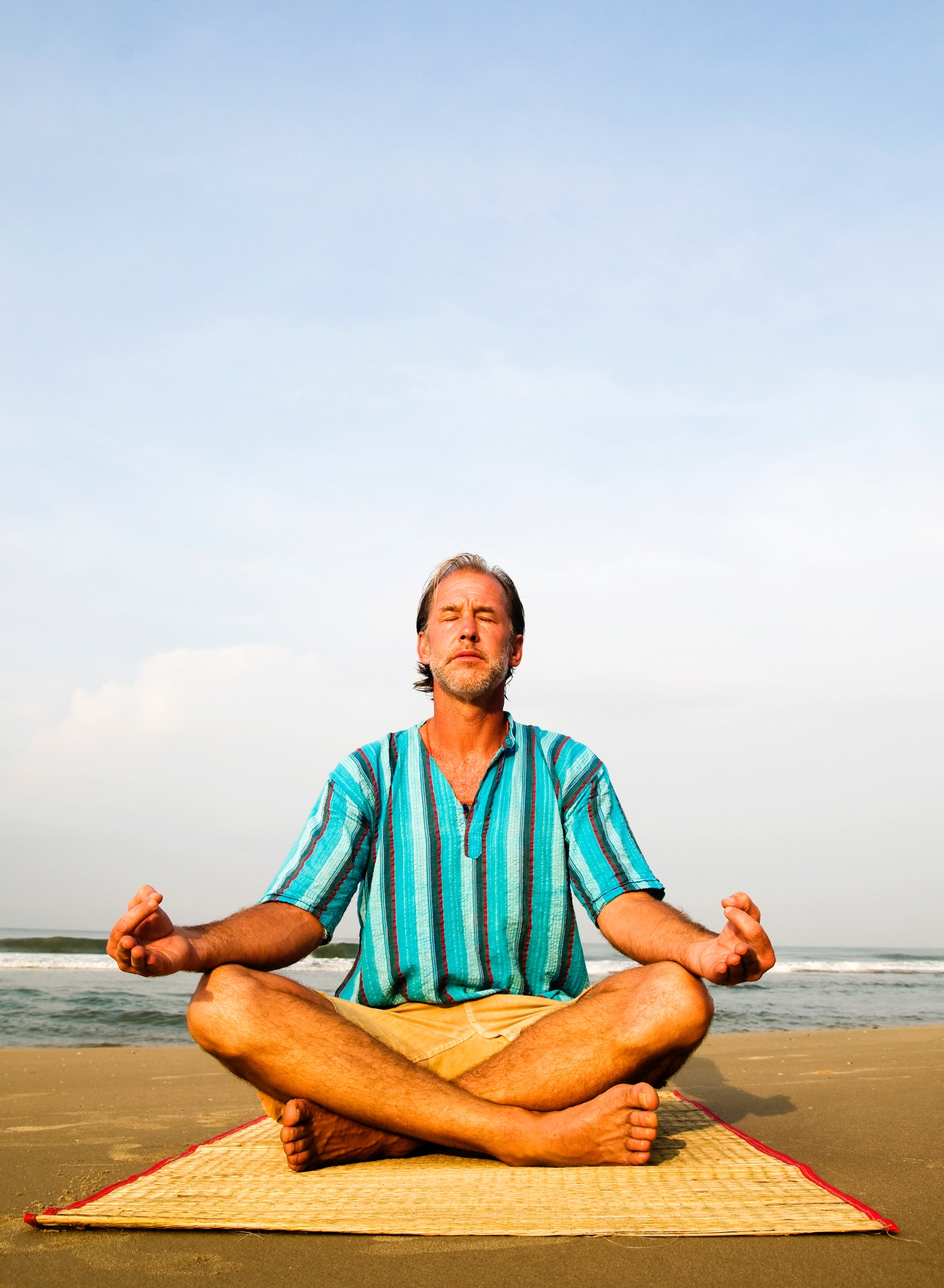 Lone Man Doing Yoga By The Beach Royalty Free Photo 81286