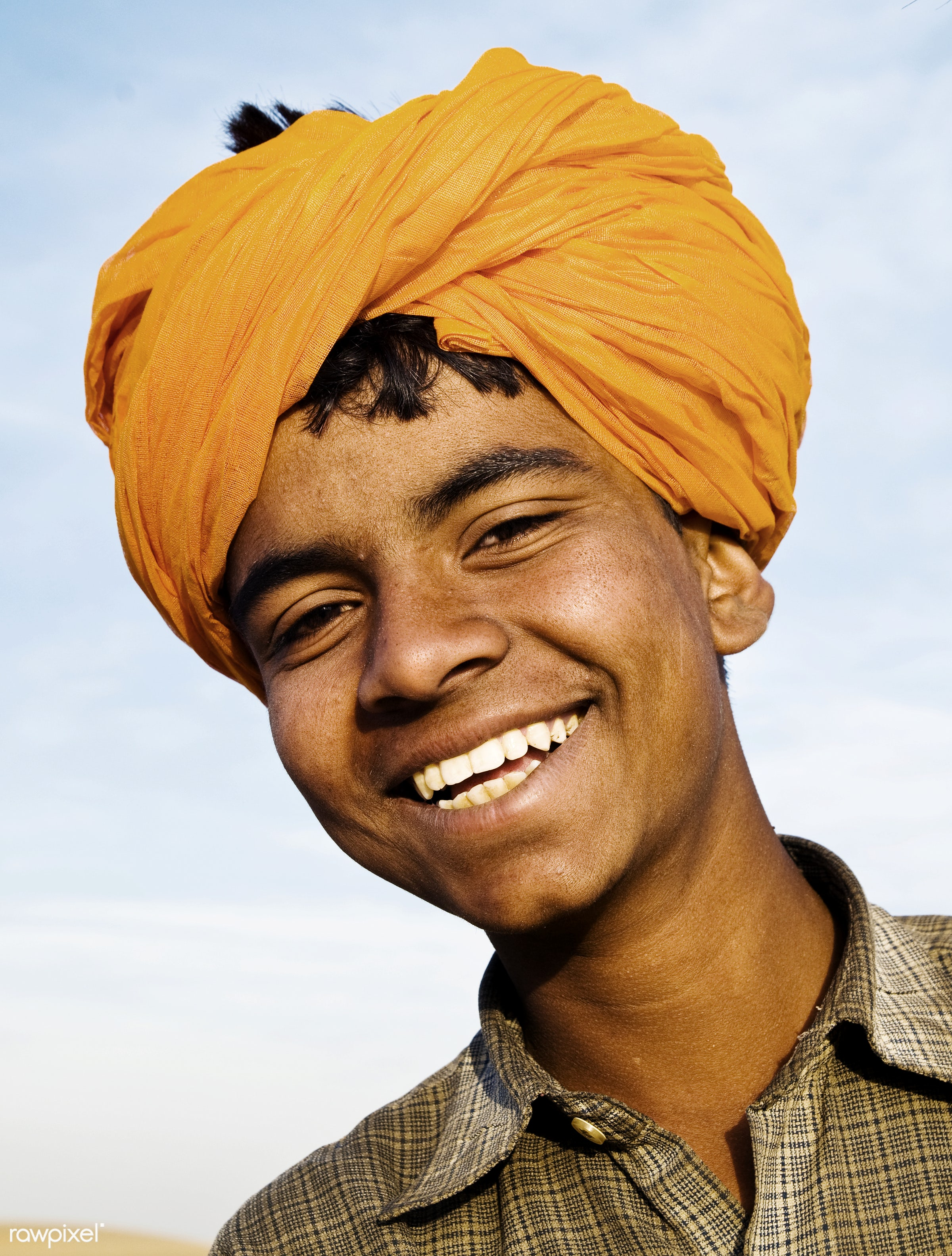Portrait of an Indian boy - adolescence, asia, asian culture, asian ethnicity, casual, cheerful, child, childhood, close-up...