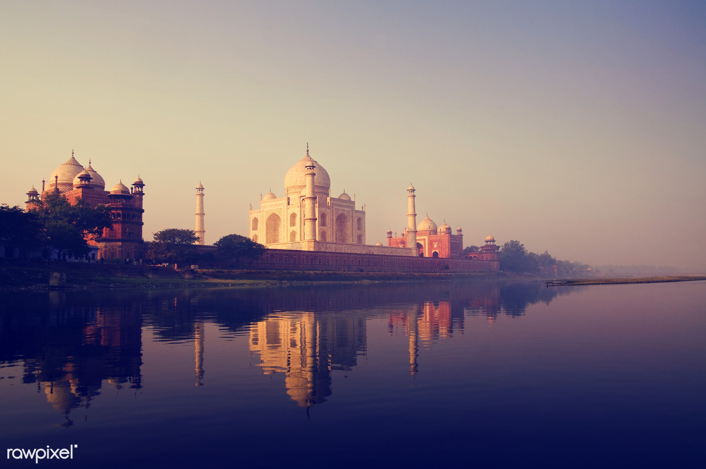 The Taj Mahal in Agra India - 7 wonders, agra, architecture, architecture and buildings, asia, building exterior, built...
