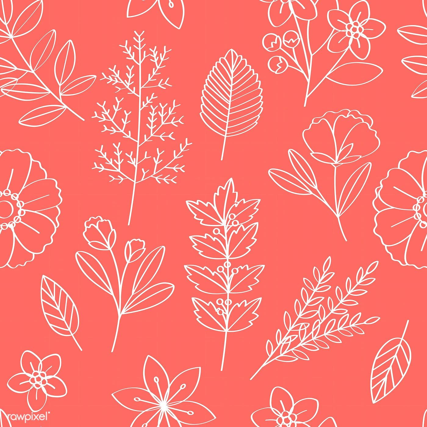 Floral patterned background | Free stock illustration - 389203