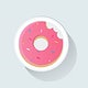 Donut with a bite vector