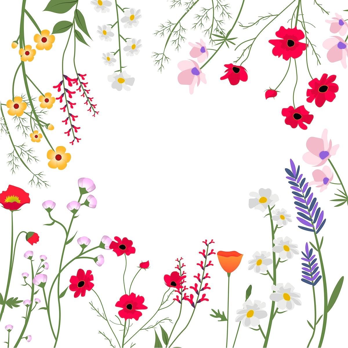 Wild Flowers Vector Illustration