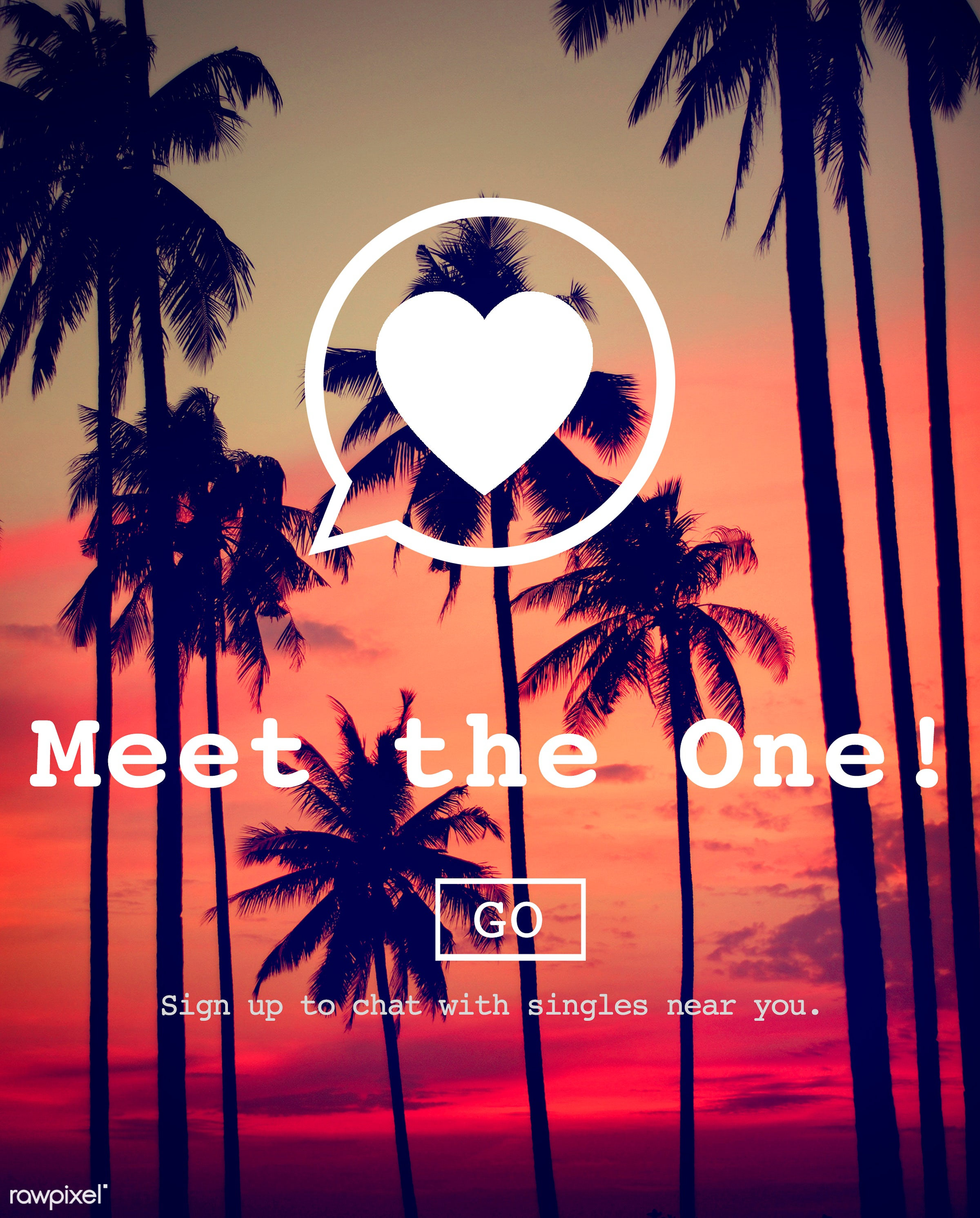 beautiful, coconut tree, colourful, communication, connect, court, dating, evening, go steady, heart, idyllic, internet,...