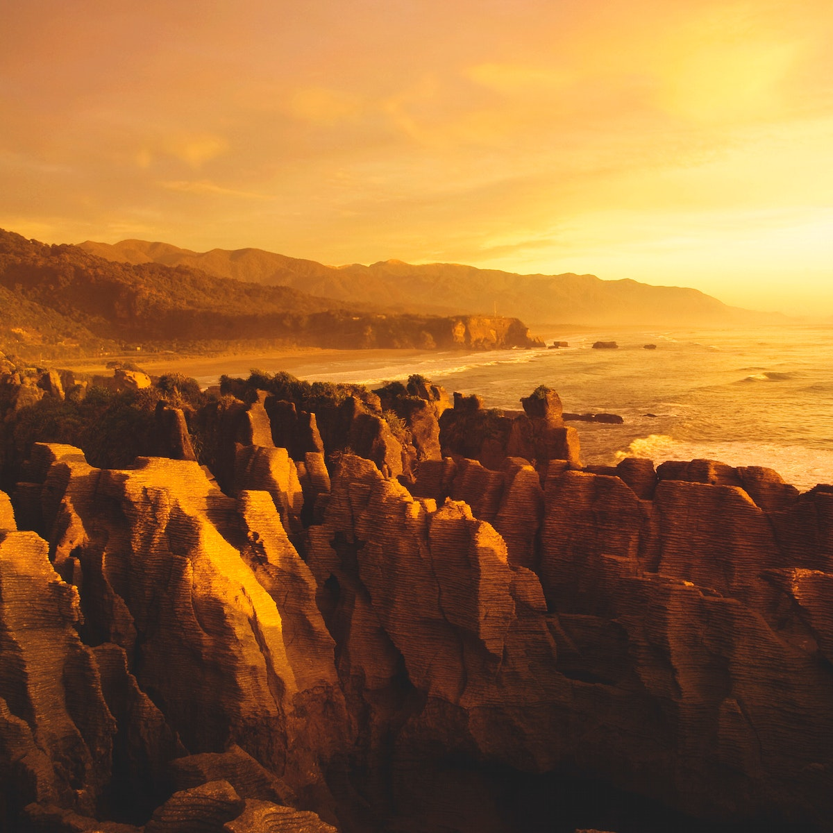 Landscape of mountain cliff by the beach coast nature scenic