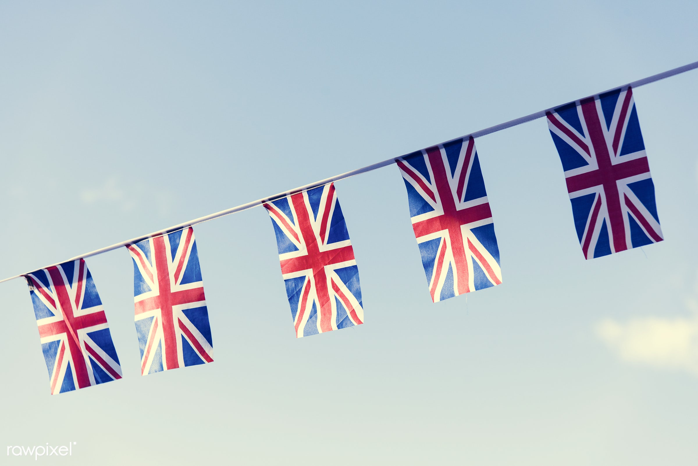 britain, clouds, country, culture, emblem, england, english, flag, freedom, government, great, illustration, in a row,...