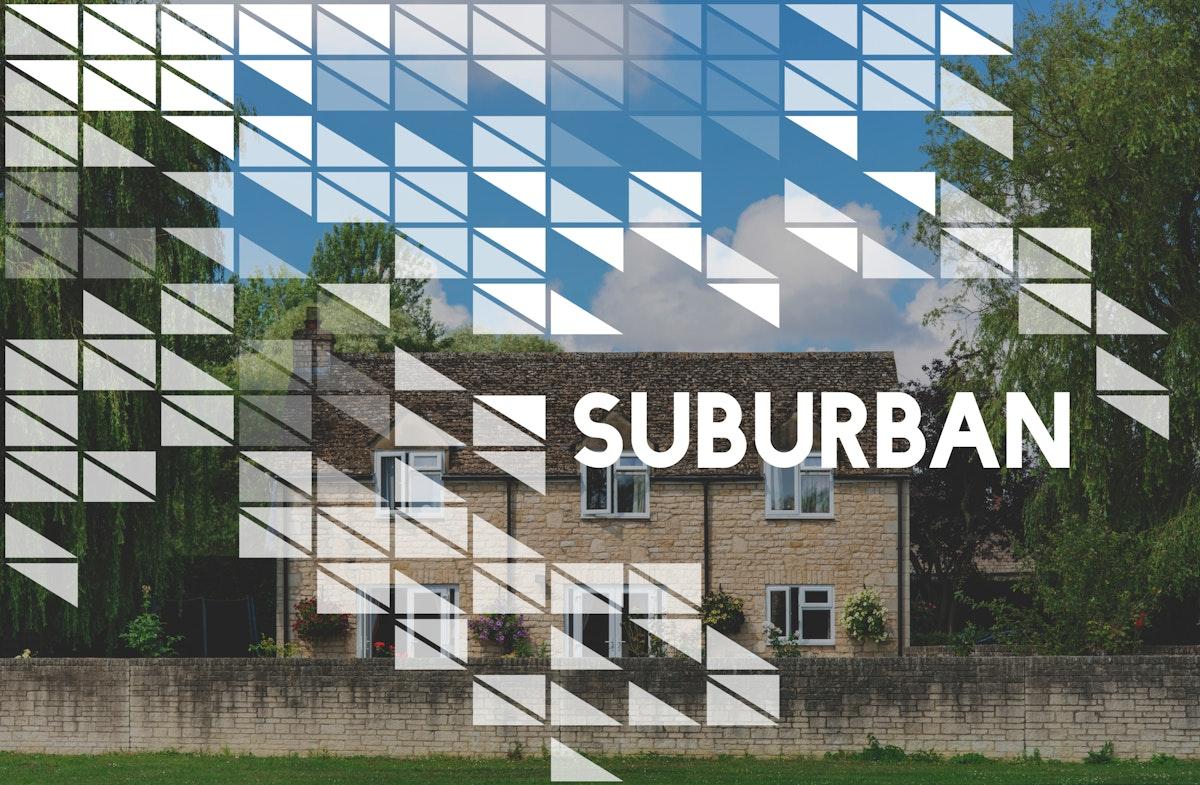 Suburban Home Vintage Style Word