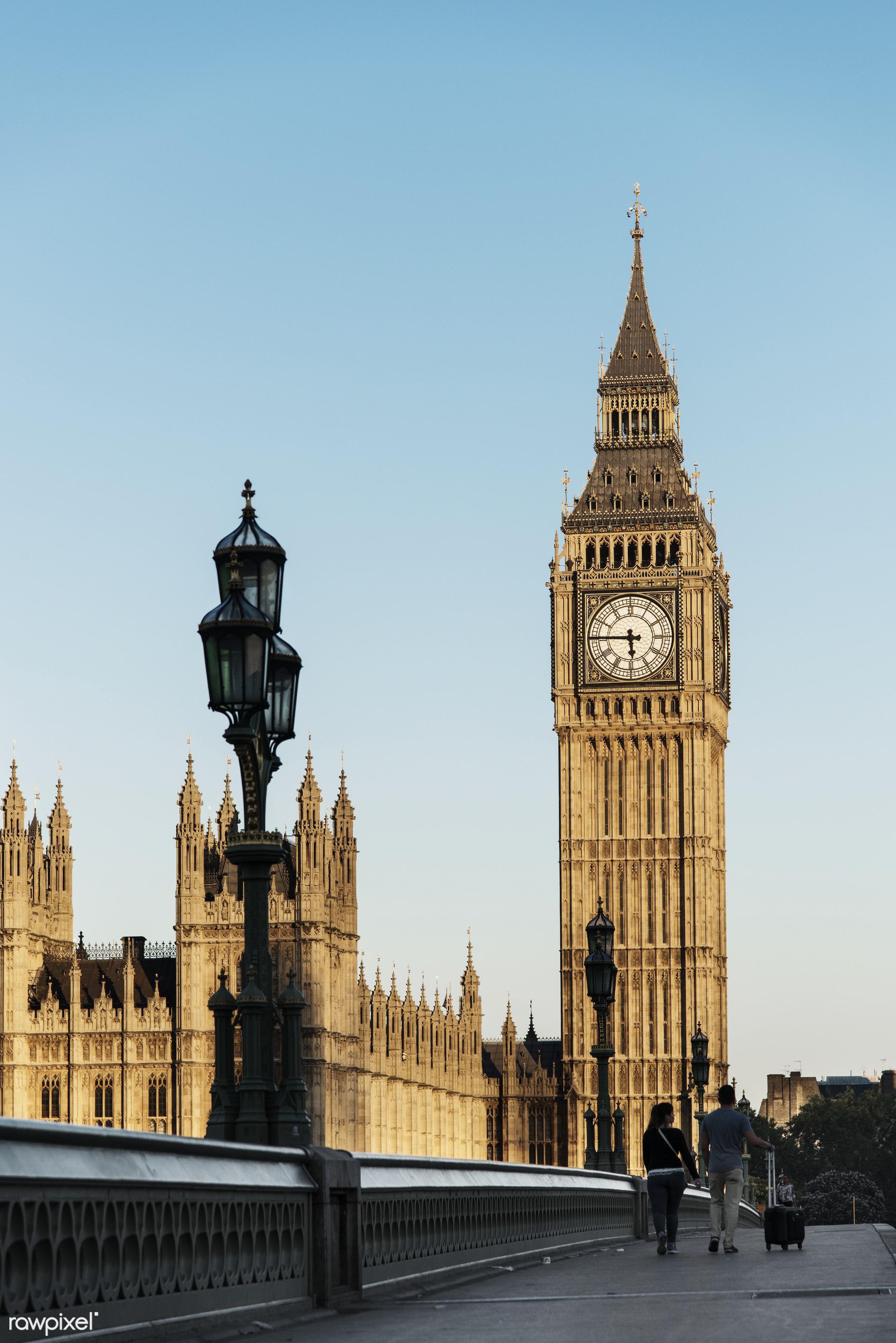 Big ben - architecture, big ben, bridge, britain, building, business, city, clock, confidence, confident, connection,...