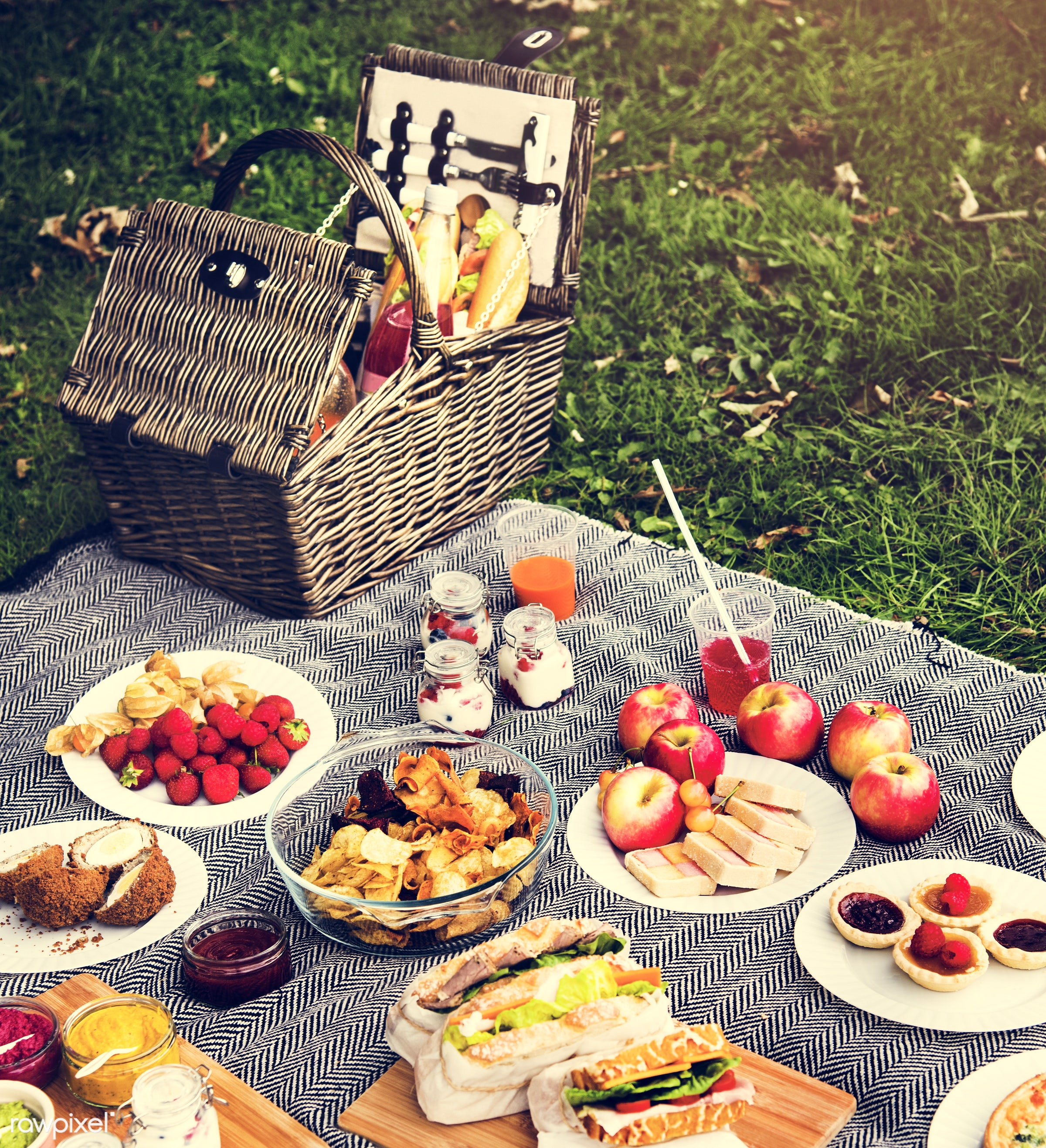 apple, basket, cherry, chips, dessert, drinks, environment, environmental, field, food, fruit, garden, grass, holiday,...