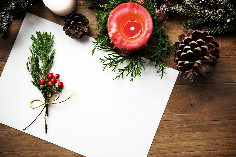 Merry Christmas Card Present Concept
