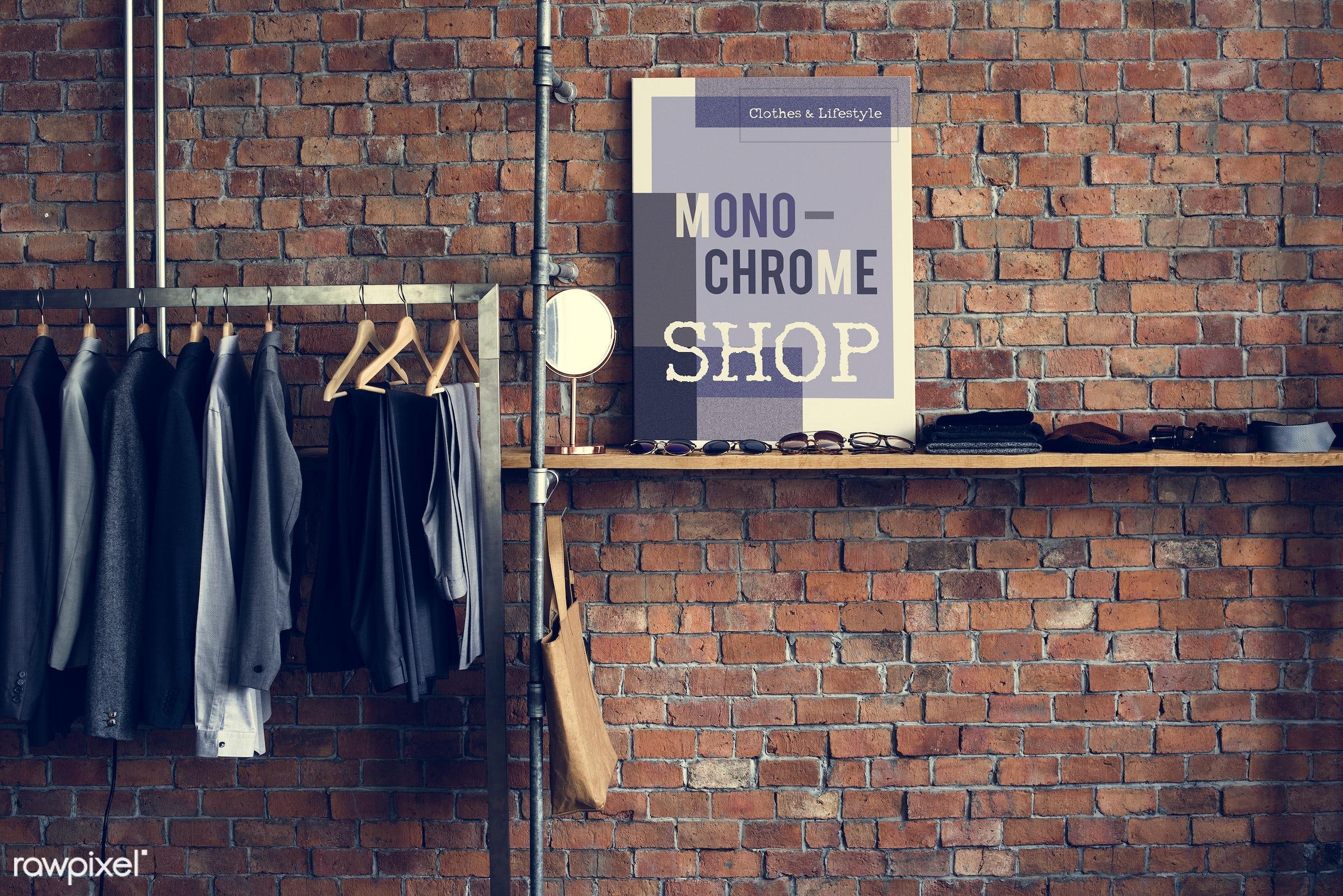 studio, coat hook, fashion, store, clothing, handicraft, garment, outfit, dressmaker, closet, stylist, collection, rack,...