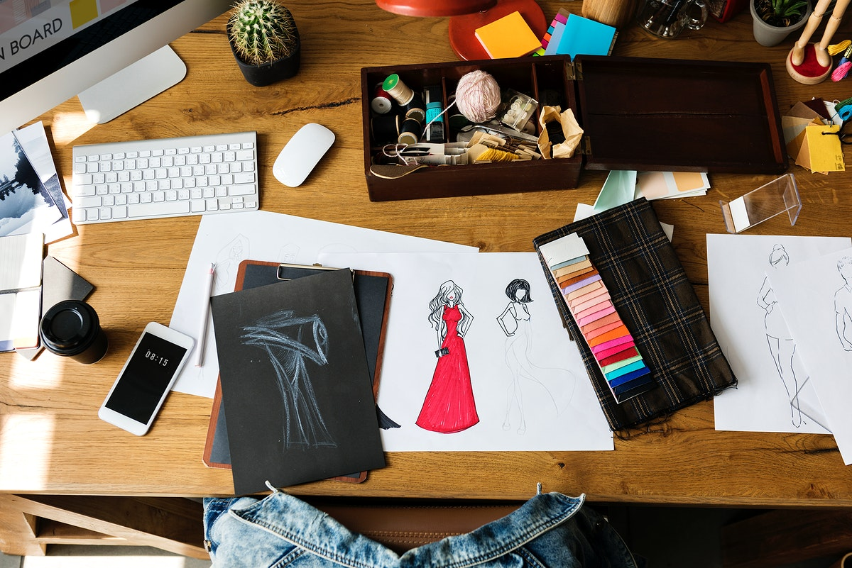Tools and materials used for fashion design