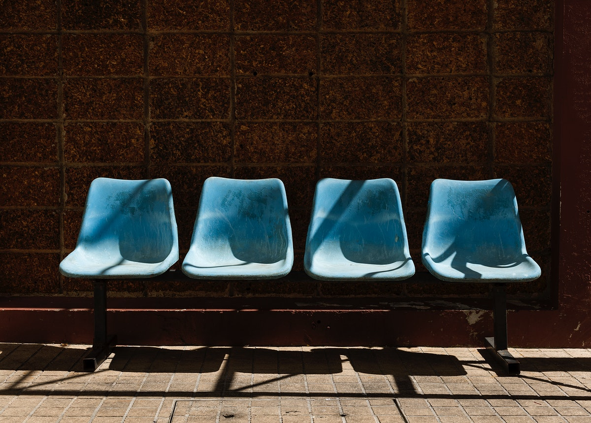 An image of bus station waiting chair