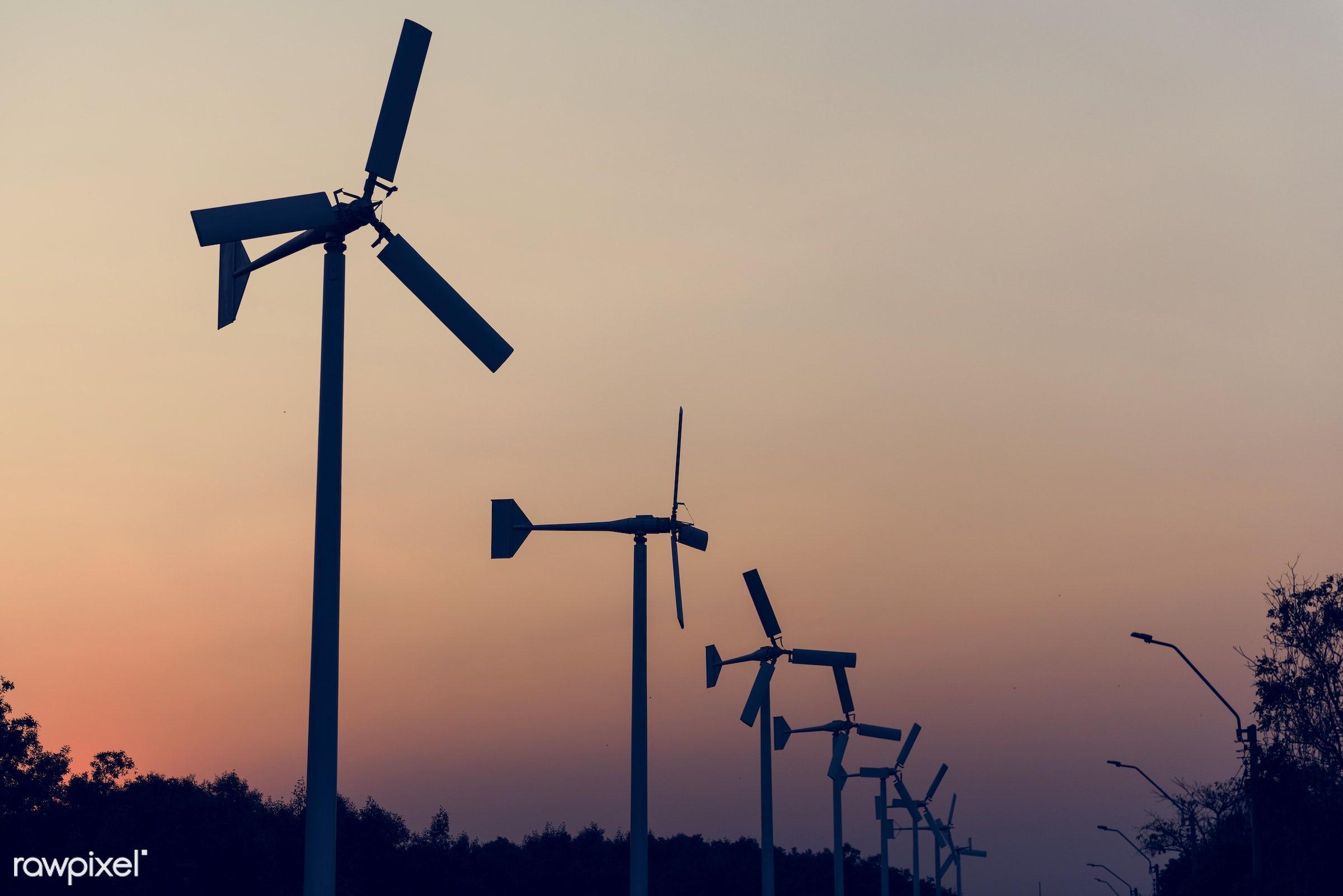 nobody, technology, generate, turbine, sustainable, landscape, sky, nature, dusk, conservation, power, generator,...