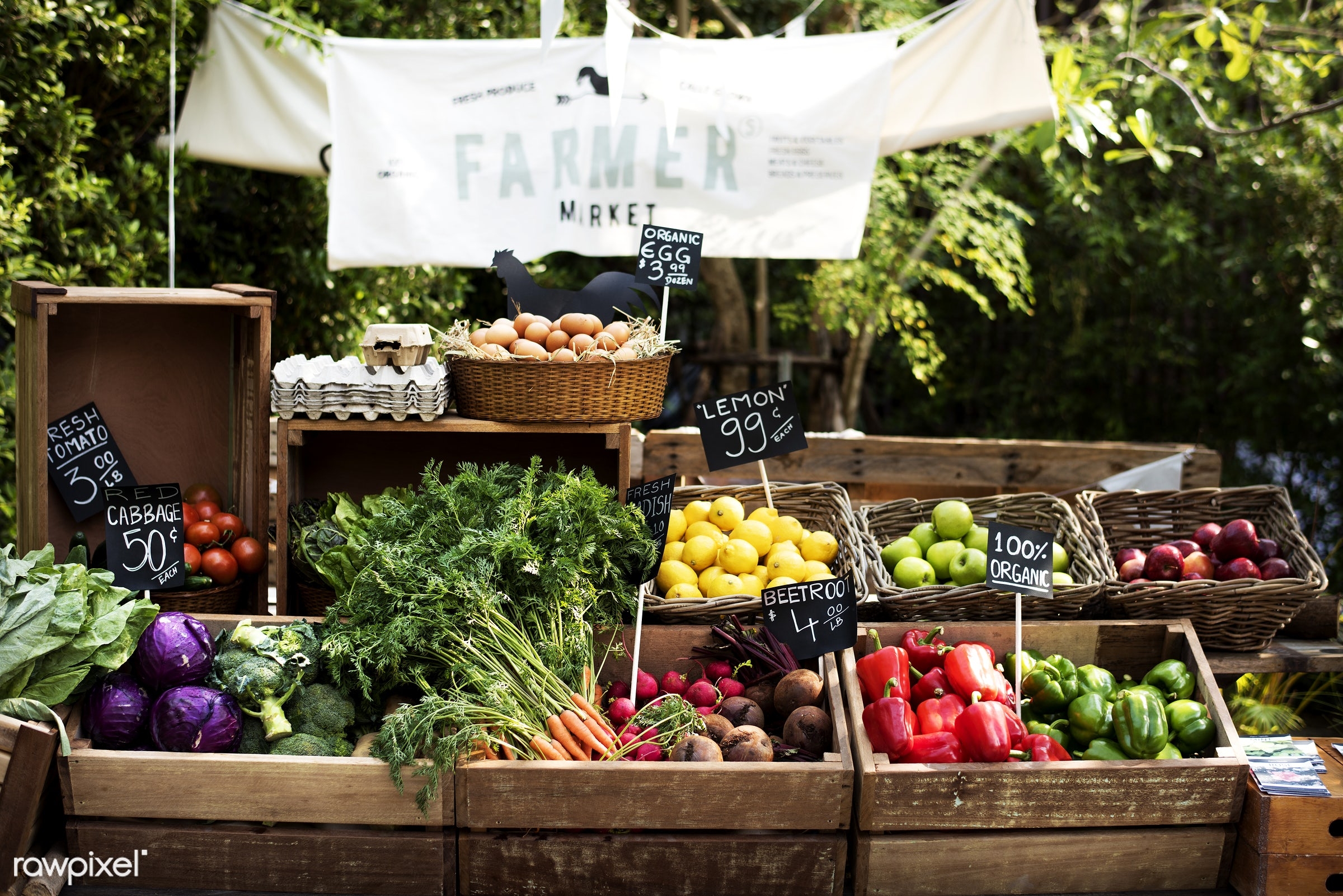 shop, stall, consumer, business, farm, farmer, fresh, sell, bell peppers, broccoli, apples, products, consumerism, green,...