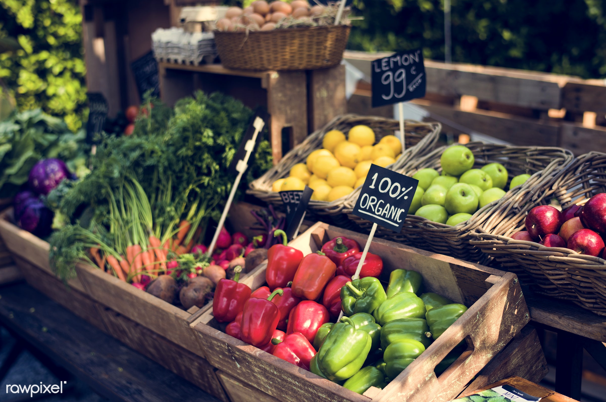 grocery, shop, store, nutritious, carrot, bell pepper, egg, farmer, fresh, healthy eating, marketplace, fruit, agriculture,...