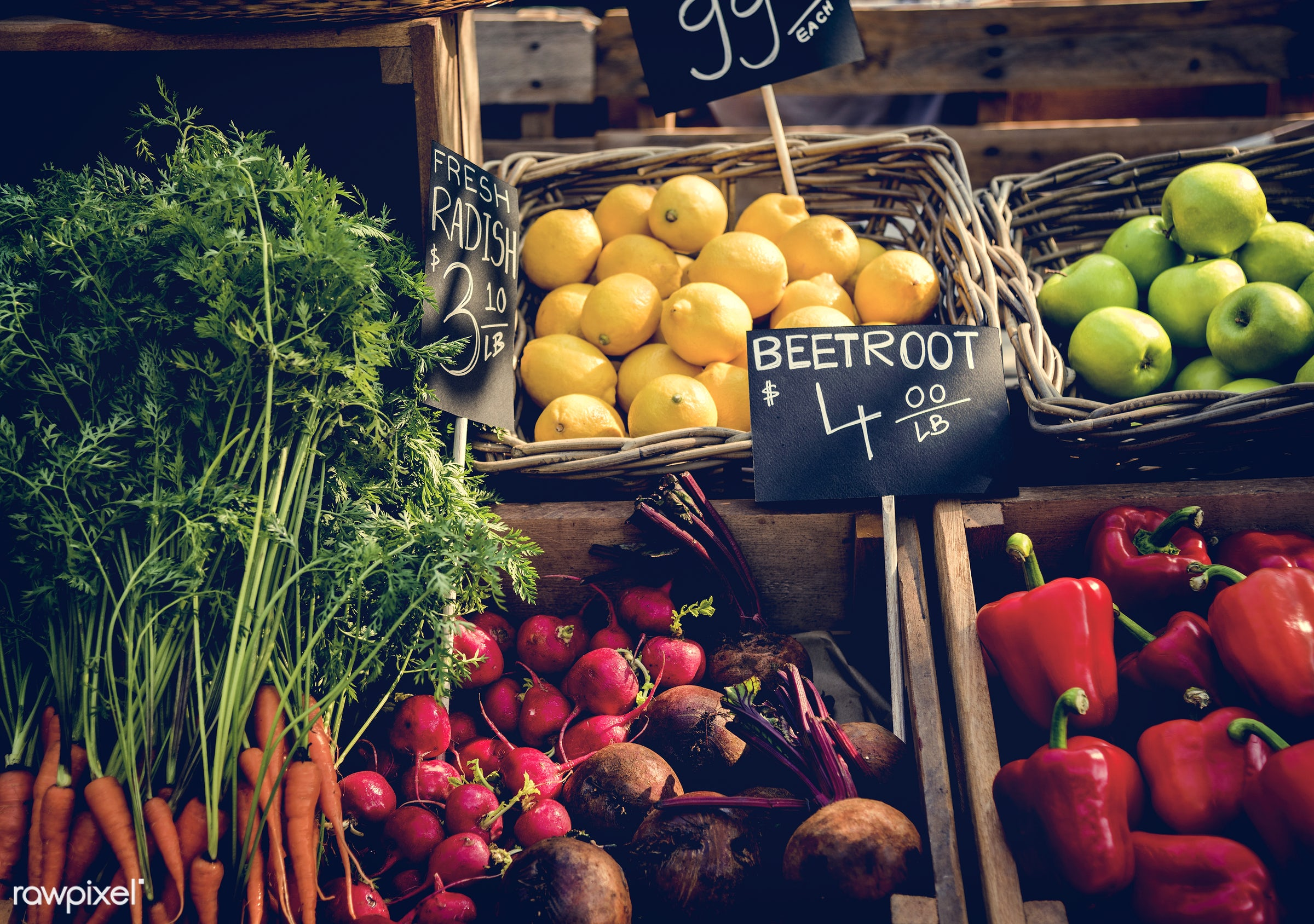 grocery, shop, store, nutritious, carrot, bell pepper, farmer, fresh, healthy eating, marketplace, fruit, agriculture,...