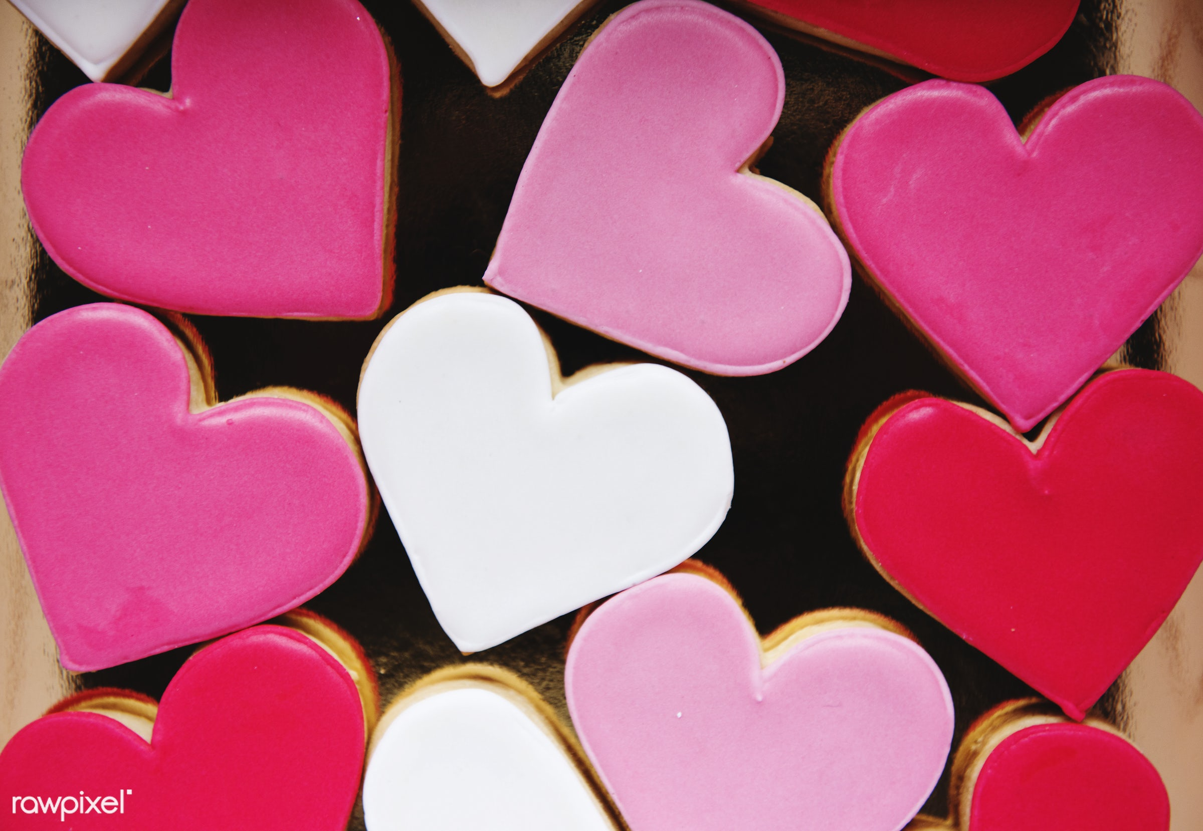 Colorful Cookie Hearts Shape Decorative Love Smitten Valentine - valentine, heart, love, pink, couple, family, red,...