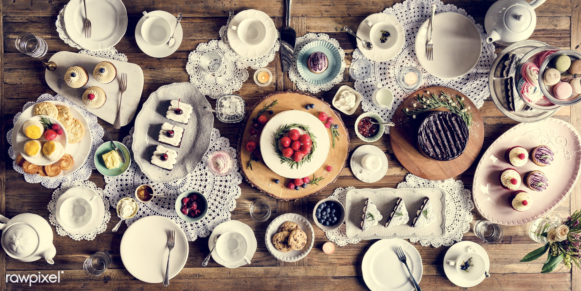 tea time, nobody, relax, occasion, party, together, bakery, event, gather, celebrate, dessert, cake, sweets, happiness,...